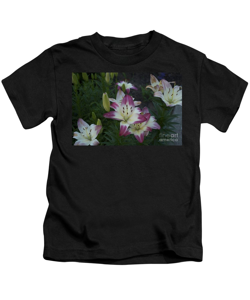 Lily Photographs Kids T-Shirt featuring the photograph Lillies by Catherine Conroy