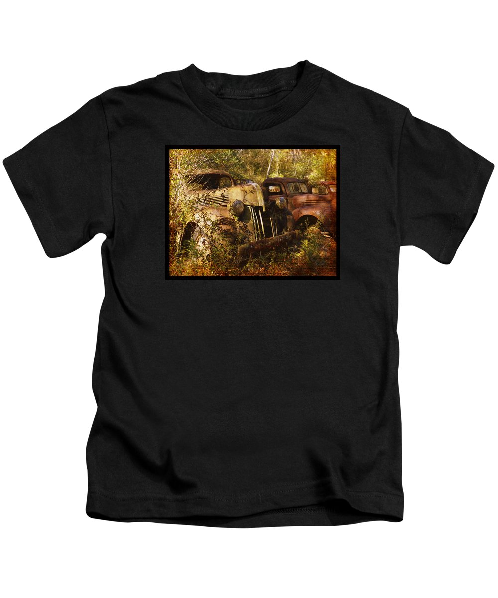 Truck Kids T-Shirt featuring the photograph Lost In Time by Carla Parris