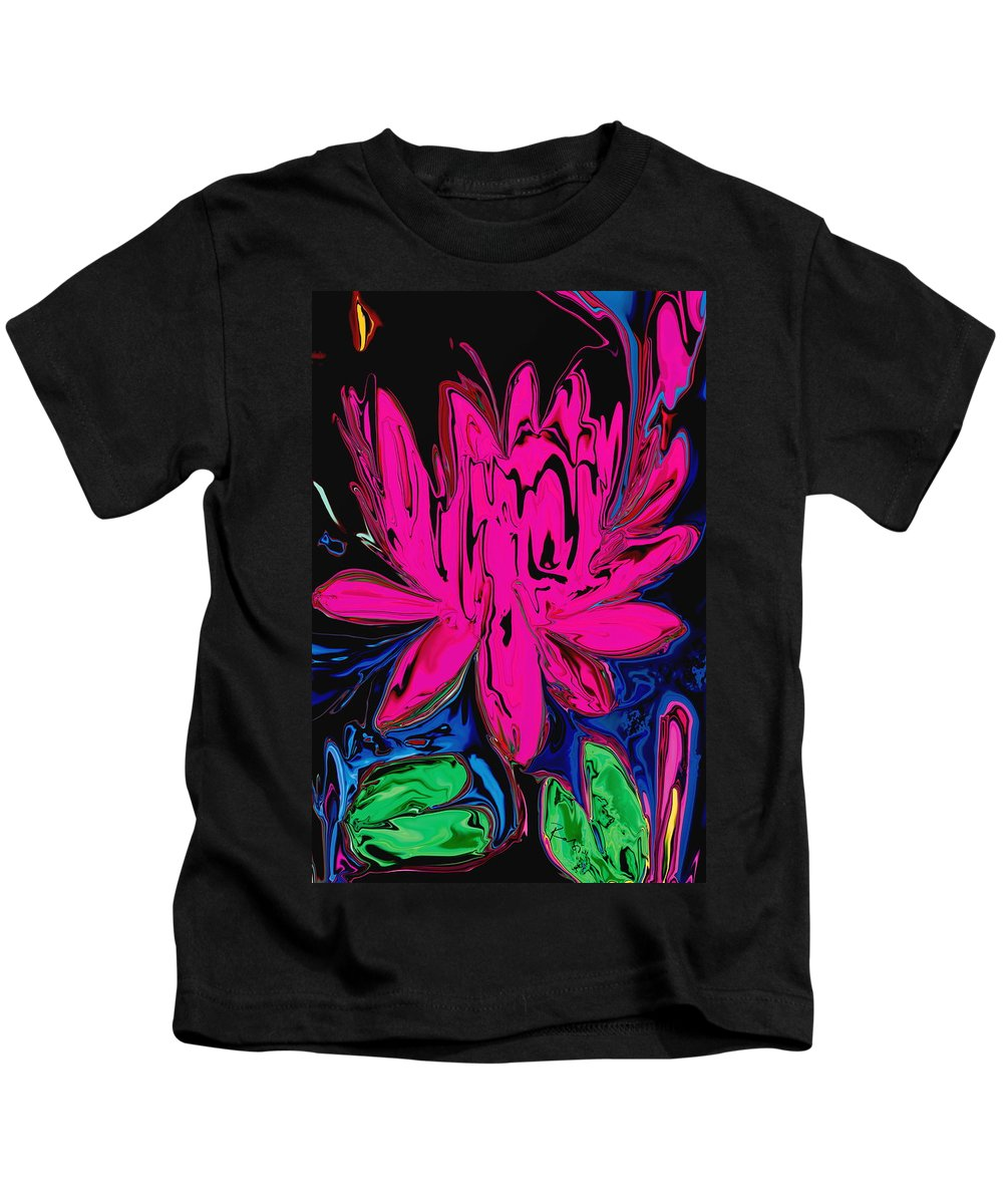 Botanical Kids T-Shirt featuring the digital art Lotus 5 by Rabi Khan