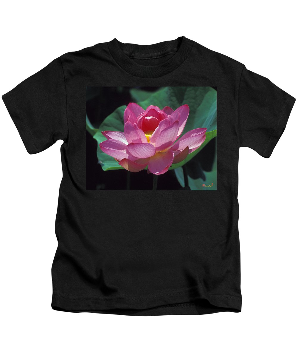Nature Kids T-Shirt featuring the photograph Lotus--secrets Within 24k by Gerry Gantt
