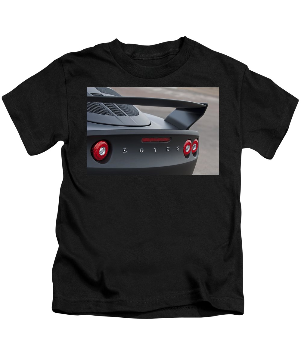Lotus Kids T-Shirt featuring the photograph Lotus Taillights by Jill Reger