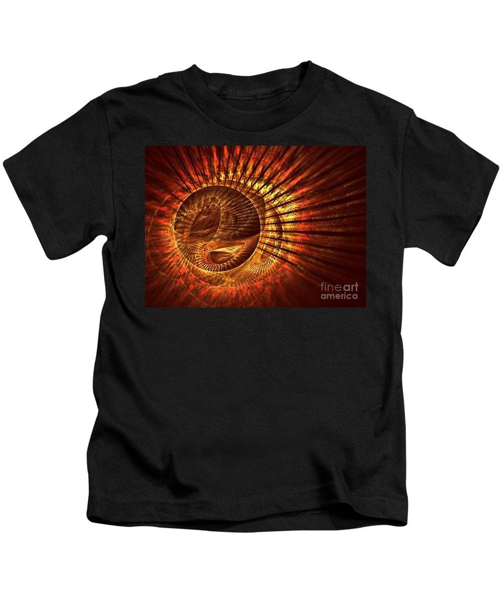 Apophysis Kids T-Shirt featuring the digital art Lyra by Kim Sy Ok