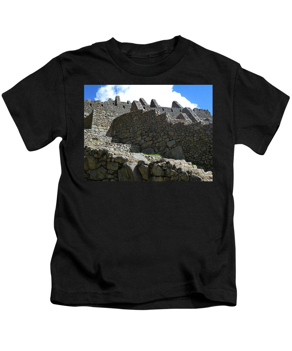 Peru Kids T-Shirt featuring the photograph Machu Picchu Peru 12 by Xueling Zou