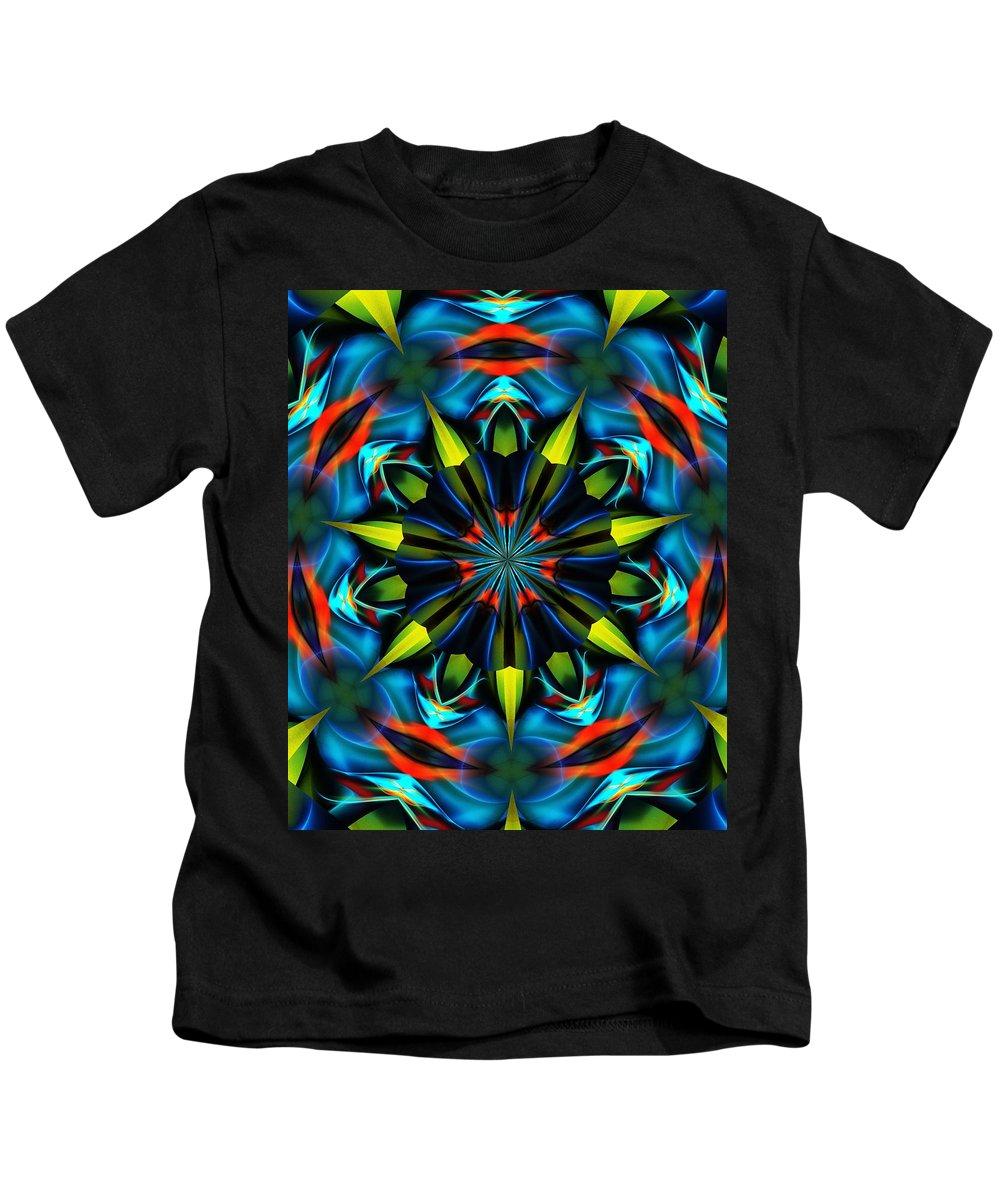 Mandela Kids T-Shirt featuring the digital art Mandela 102311 by David Lane