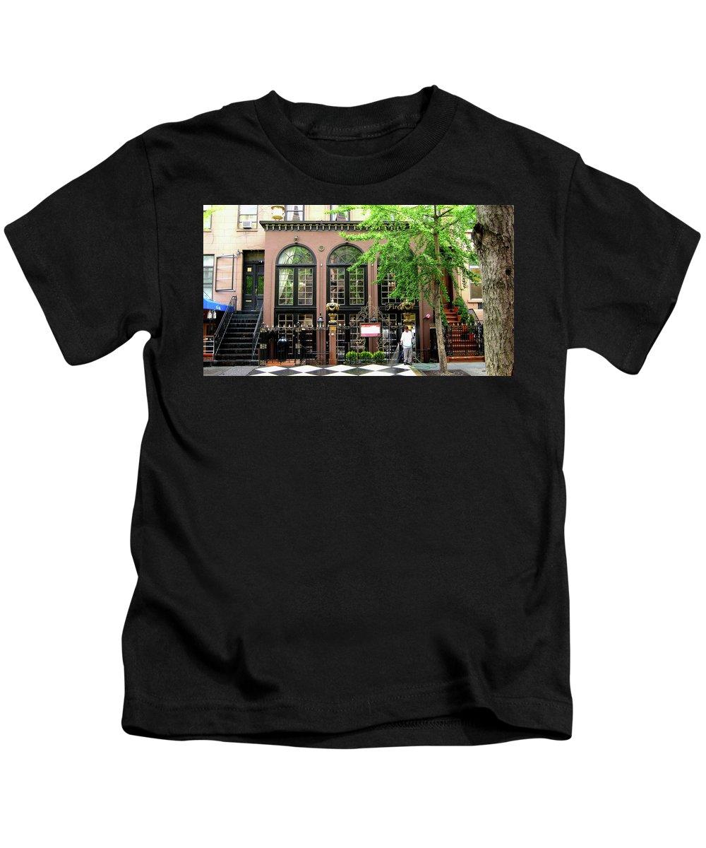 Manhattan Kids T-Shirt featuring the photograph Manhattan Morning by Lorraine Devon Wilke