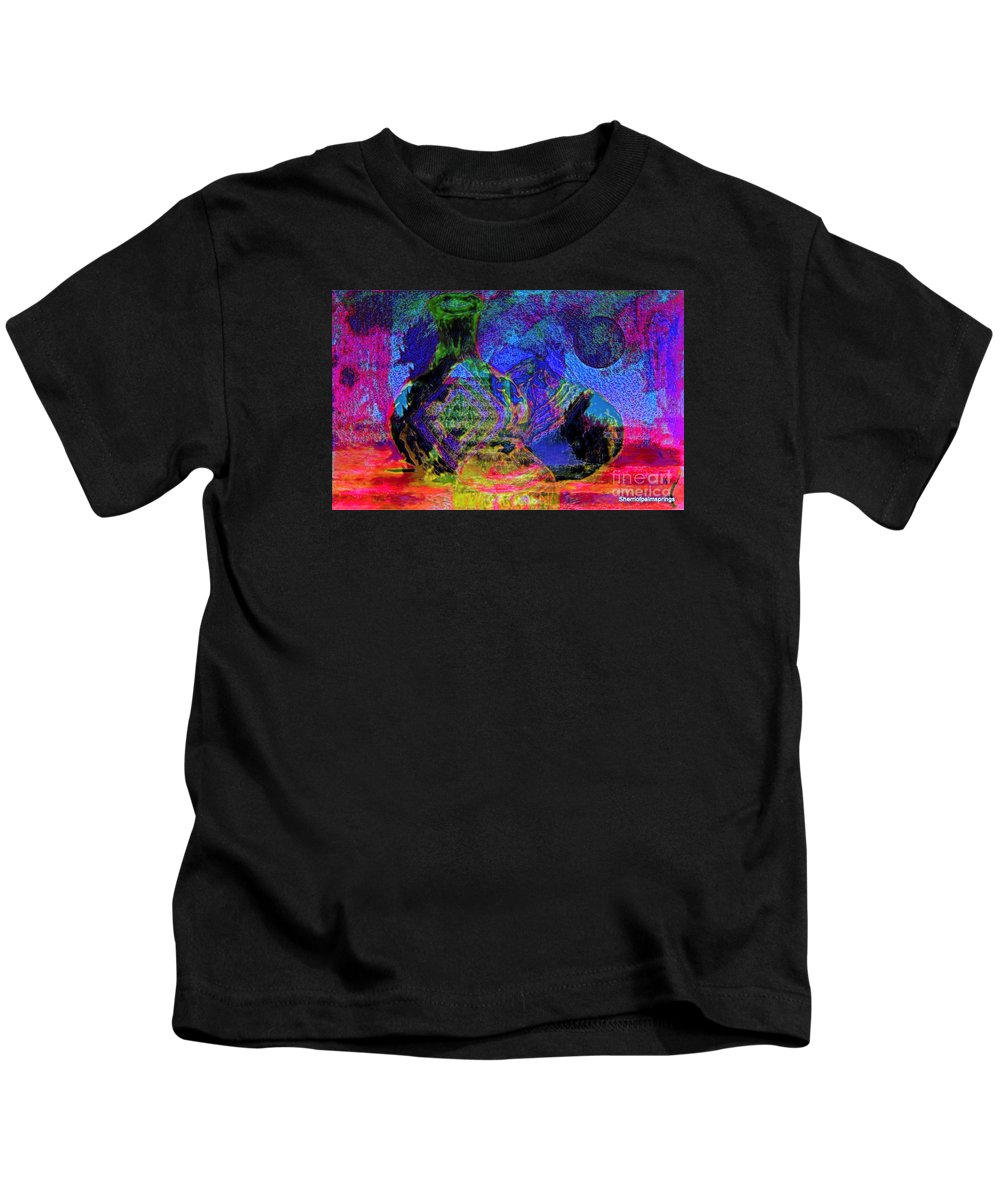 Abstract Kids T-Shirt featuring the painting Mapped In Time Pottery Collection by Sherri's - Of Palm Springs