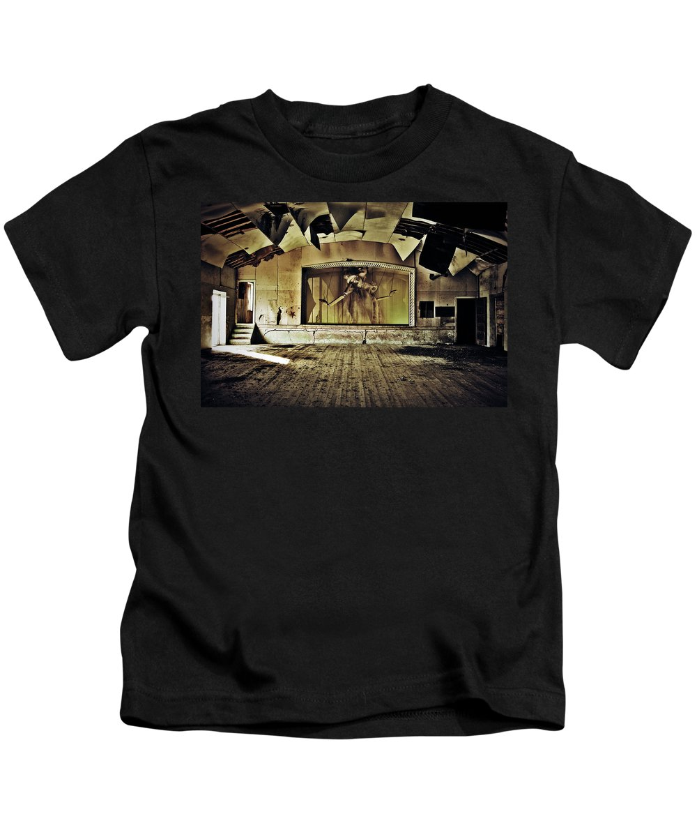 Street Photographer Kids T-Shirt featuring the photograph Marionette Moment by The Artist Project