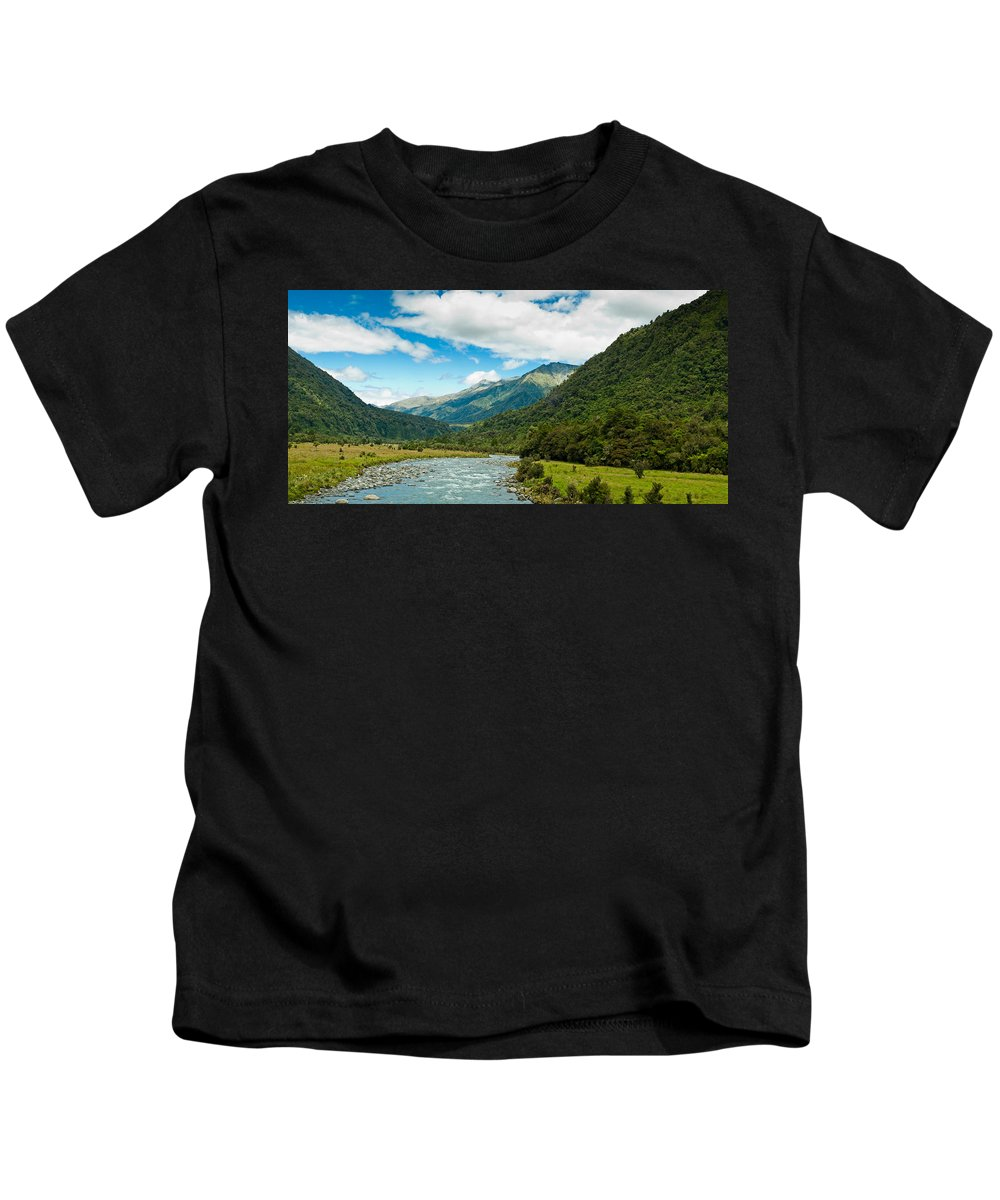 Adventure Kids T-Shirt featuring the photograph Massive Cloudy Sky Above The Wilderness by U Schade