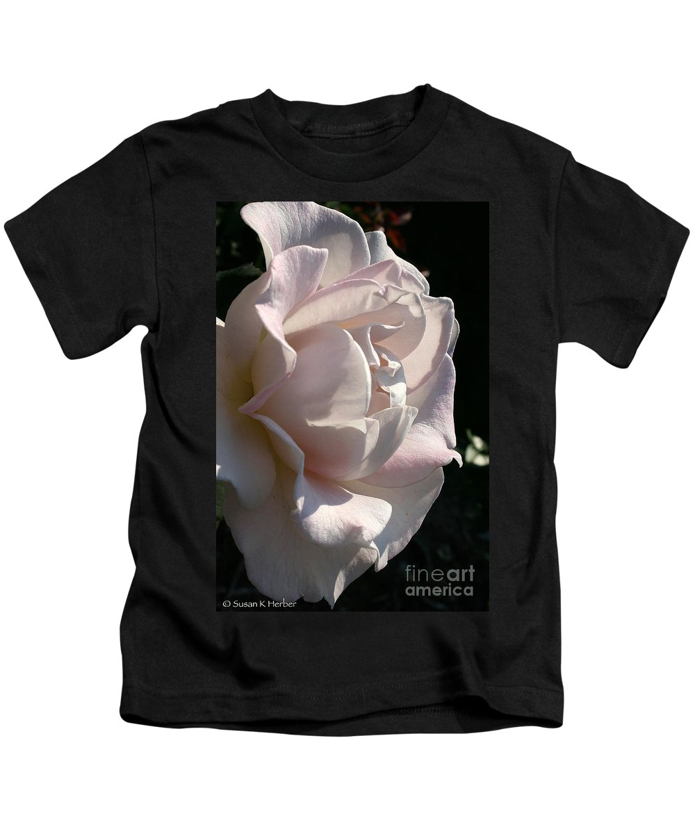 Outdoors Kids T-Shirt featuring the photograph Memorial Rose by Susan Herber