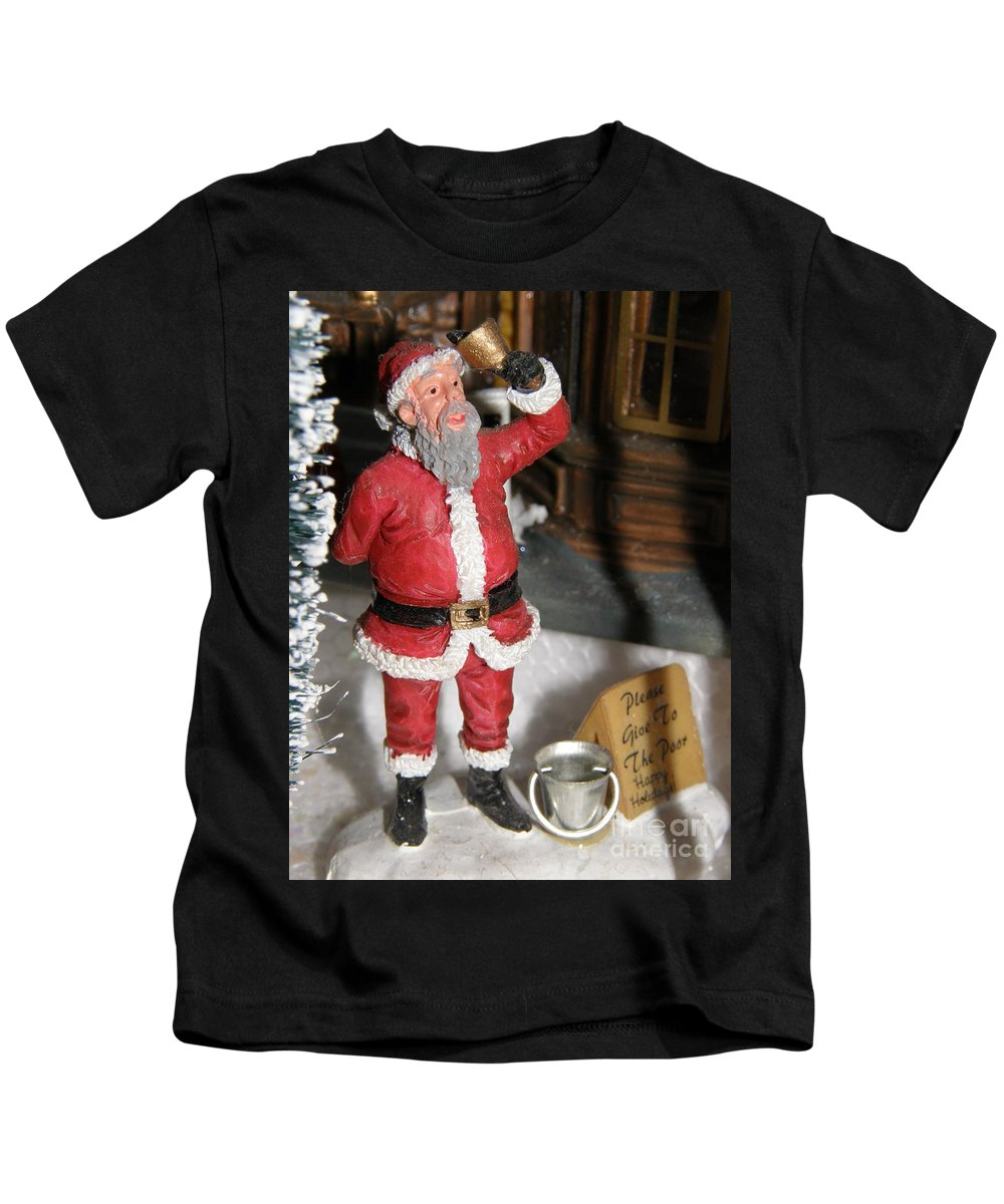 Santa Kids T-Shirt featuring the photograph Merry Christmas by Alice Markham