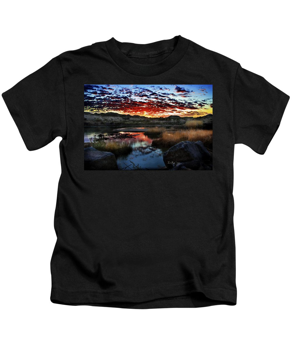 Blythe Kids T-Shirt featuring the photograph Middle Earth Hdr2 by La Rae Roberts