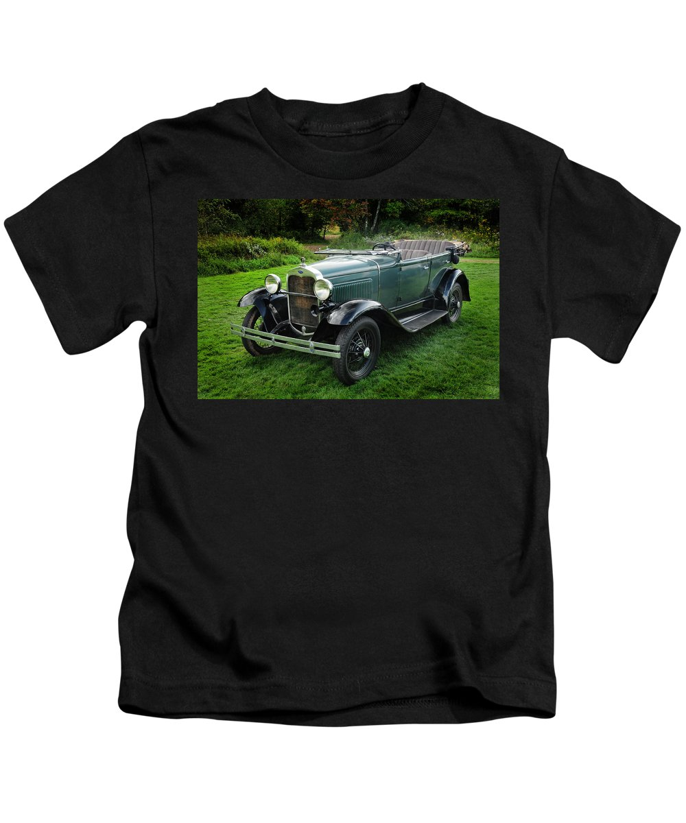 Model A Ford Kids T-Shirt featuring the photograph Model A Ford by Dave Mills