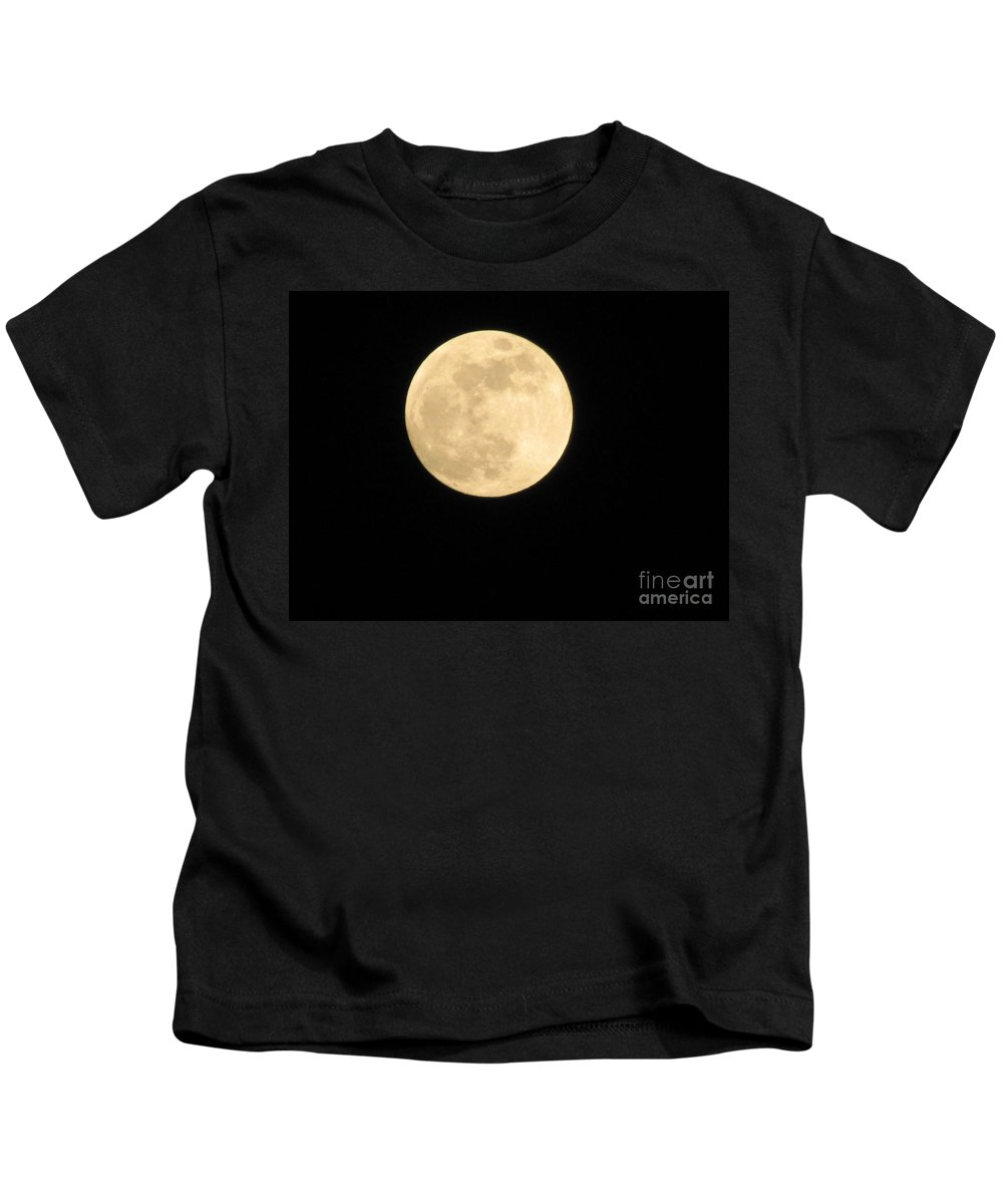 Astronomy Kids T-Shirt featuring the photograph Moon In The Galaxy Mars by Michelle Powell