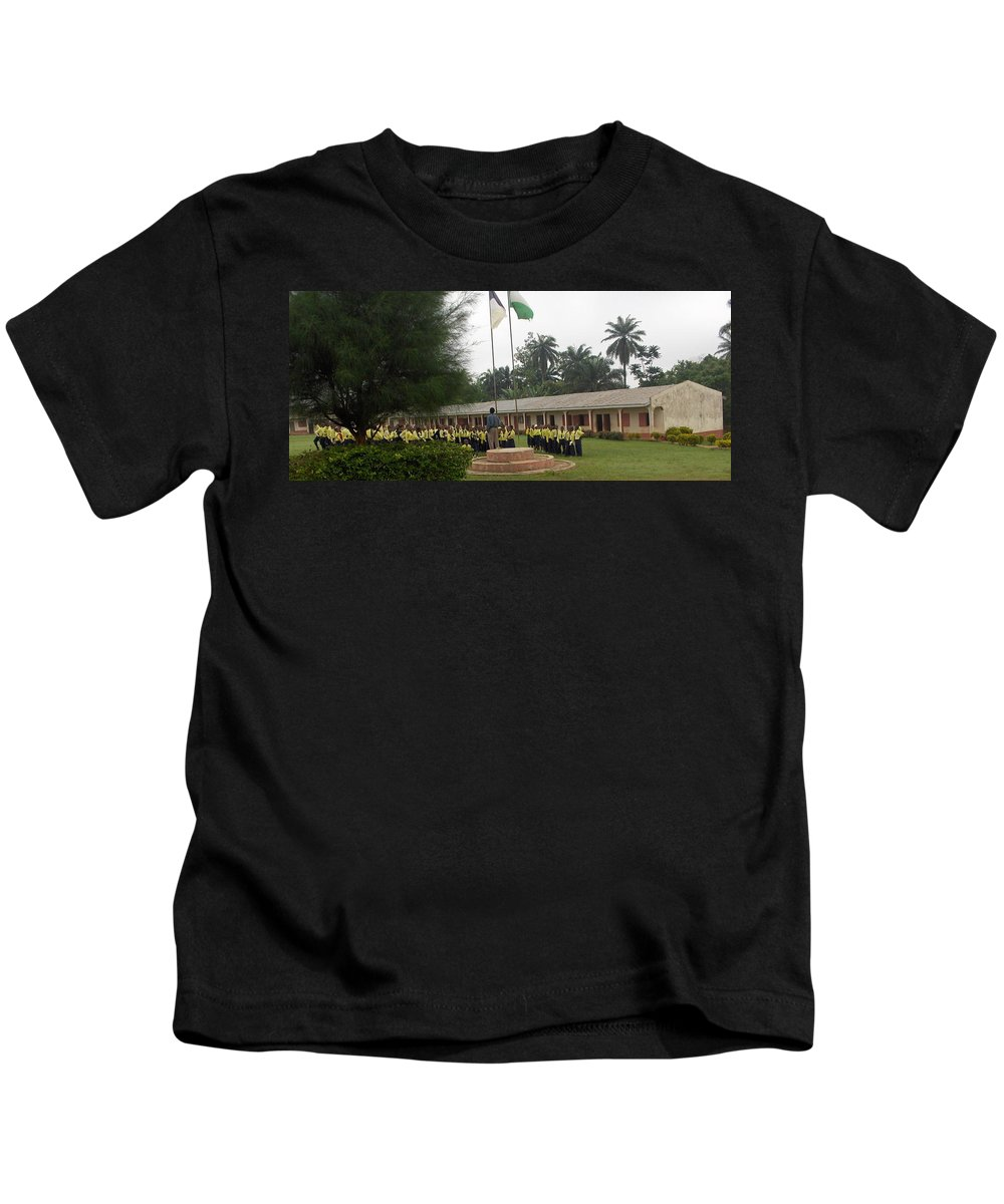 School Kids T-Shirt featuring the photograph Morning Asembly by Amy Hosp