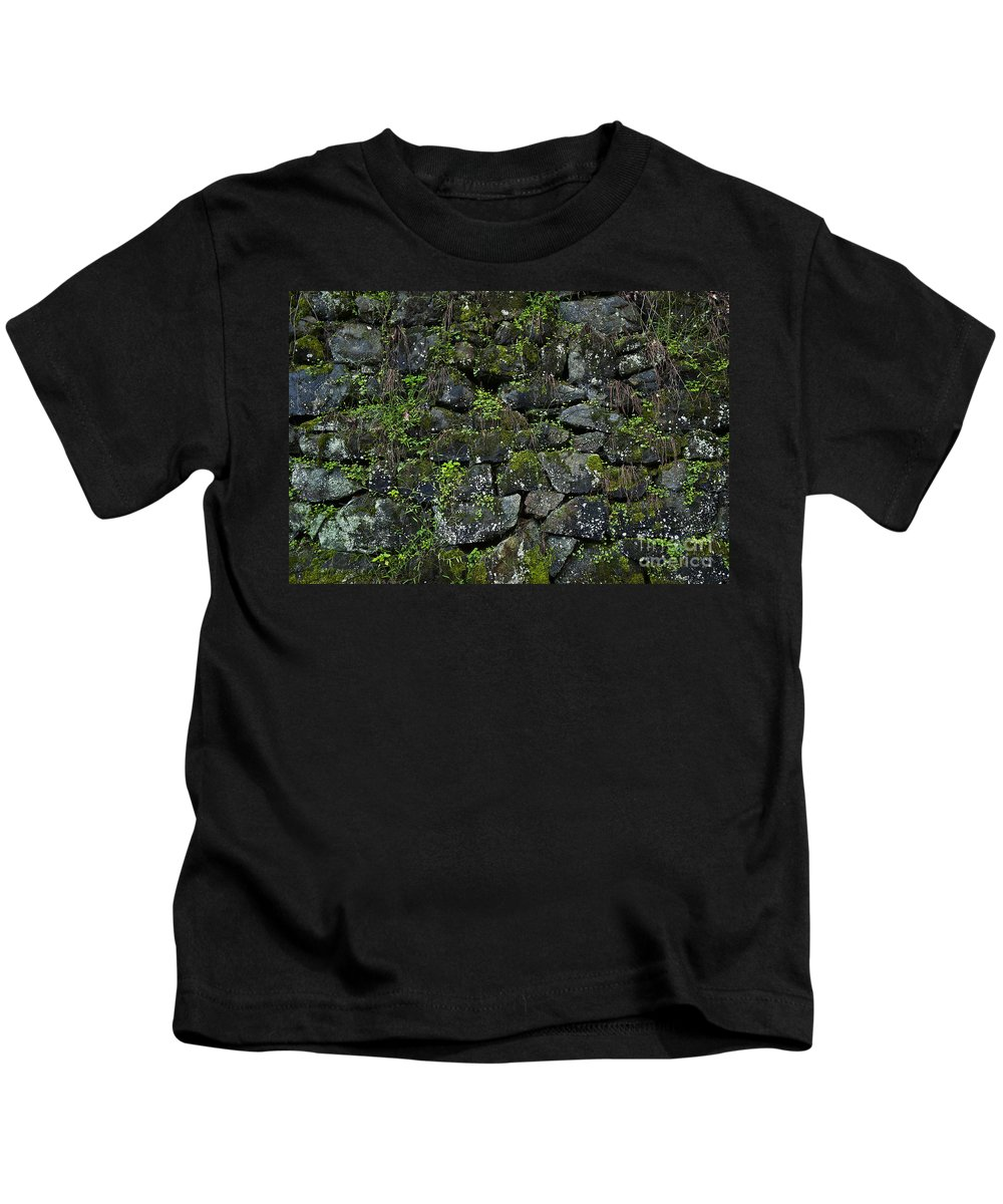 Abstract Kids T-Shirt featuring the photograph Moss And Stone by John Greim