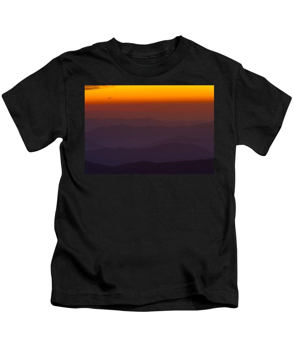 Great Kids T-Shirt featuring the photograph Mountain Sunset by Steve Gadomski