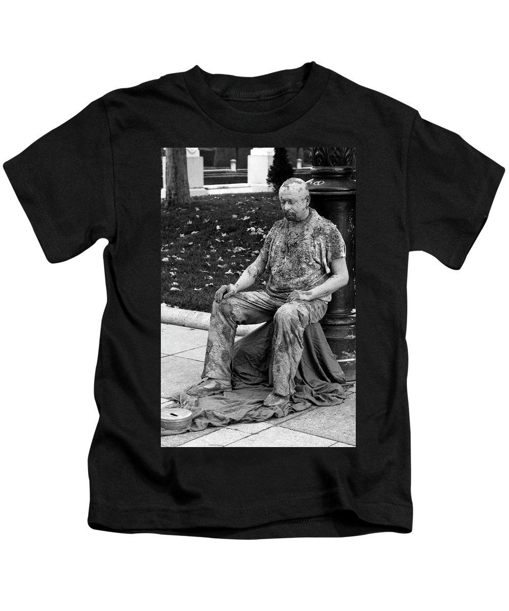 Madrid Kids T-Shirt featuring the photograph Mud Man by Lorraine Devon Wilke