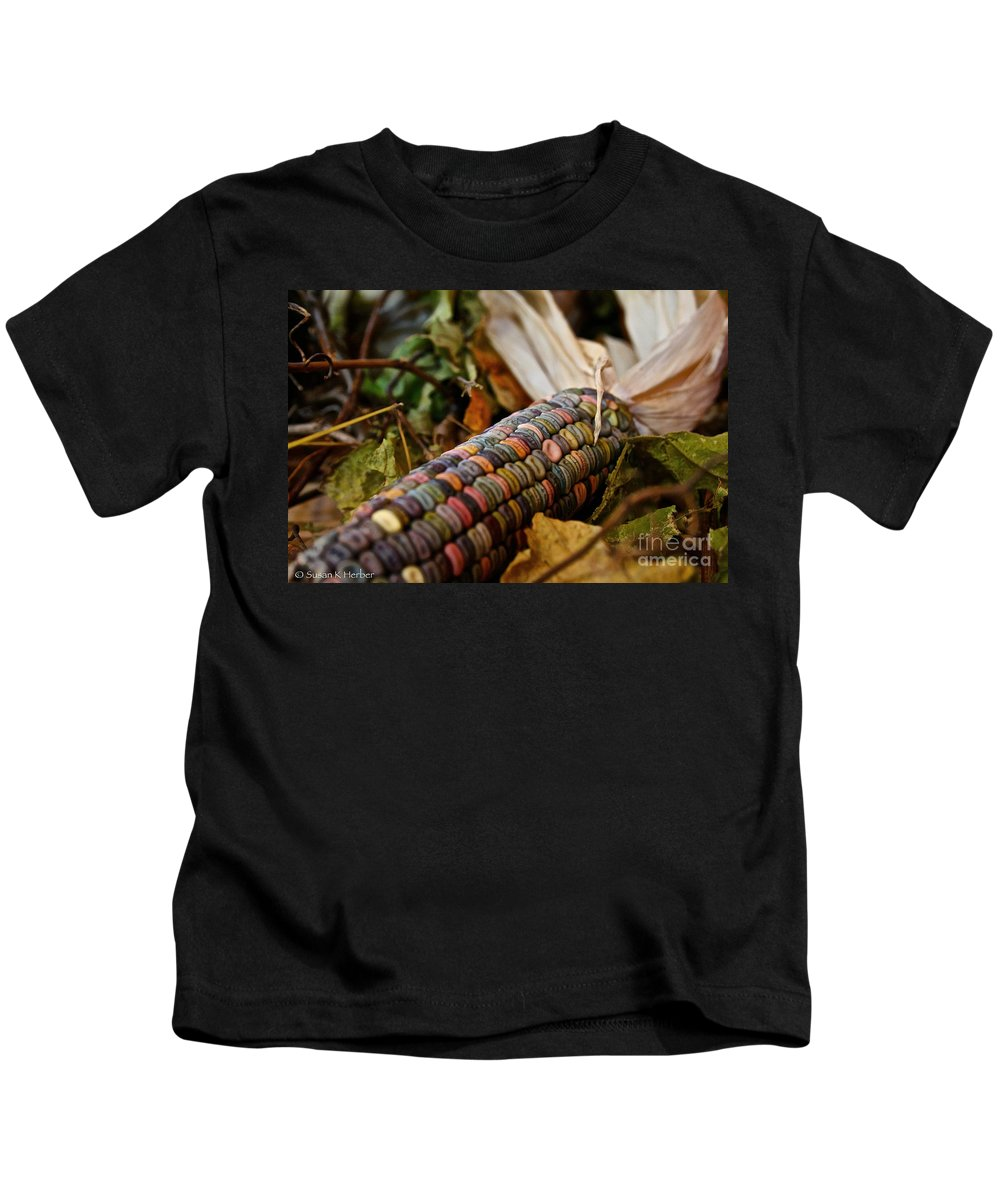 Outdoors Kids T-Shirt featuring the photograph Multi Colors by Susan Herber