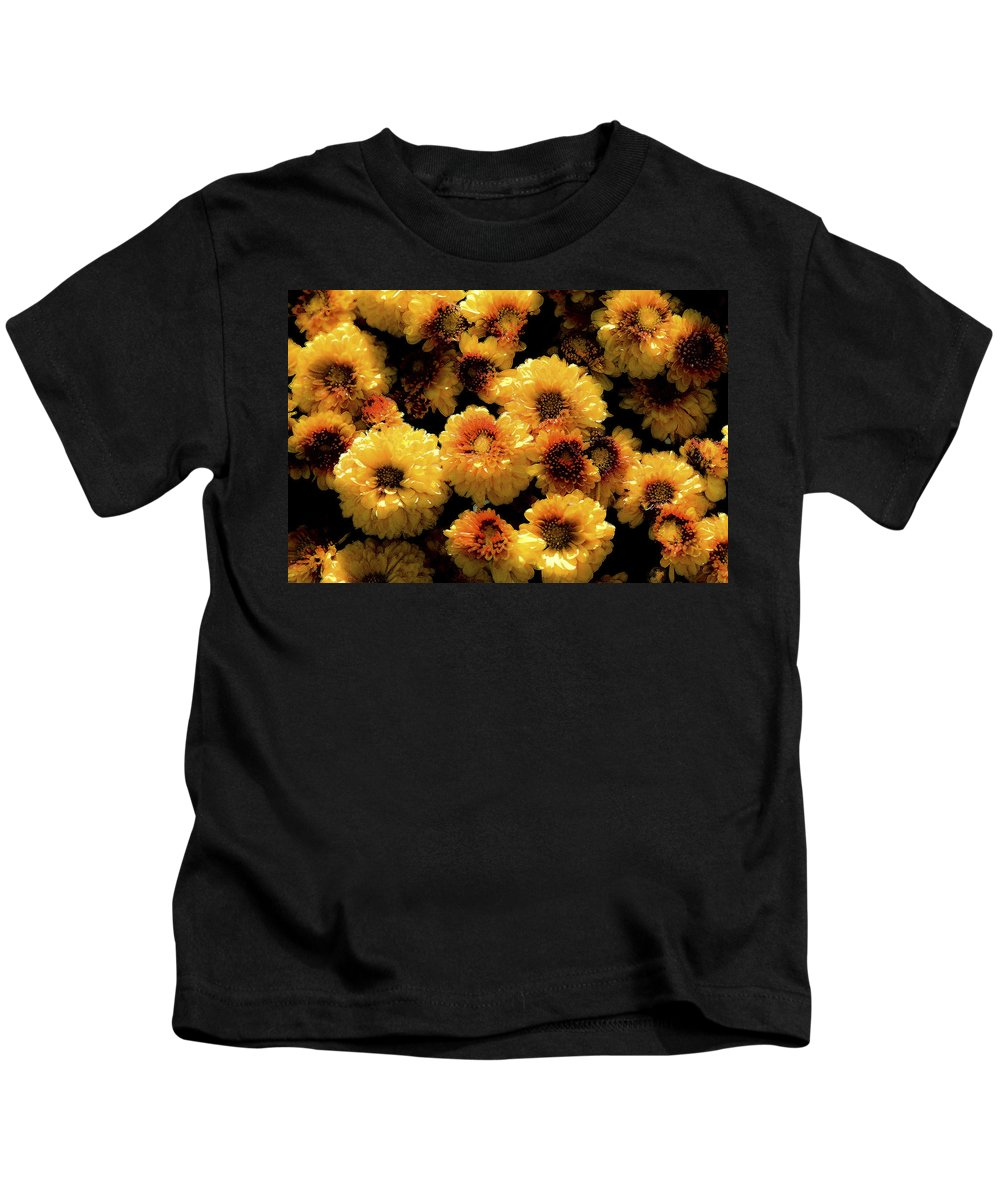 Flowers Kids T-Shirt featuring the photograph Mums The Word by Rich Franco