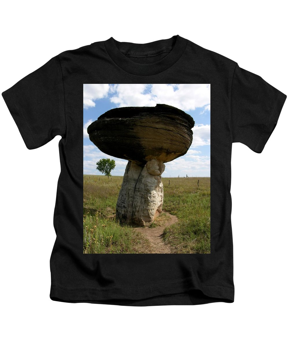Rock Kids T-Shirt featuring the photograph Mushroom Rock by Keith Stokes