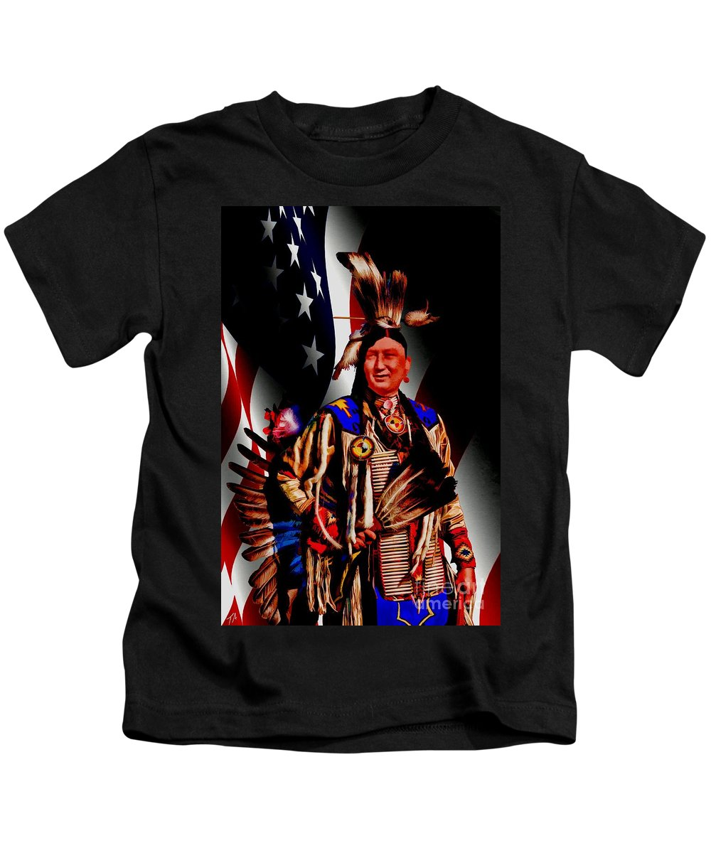 Native American Kids T-Shirt featuring the digital art My Cousin by Tommy Anderson