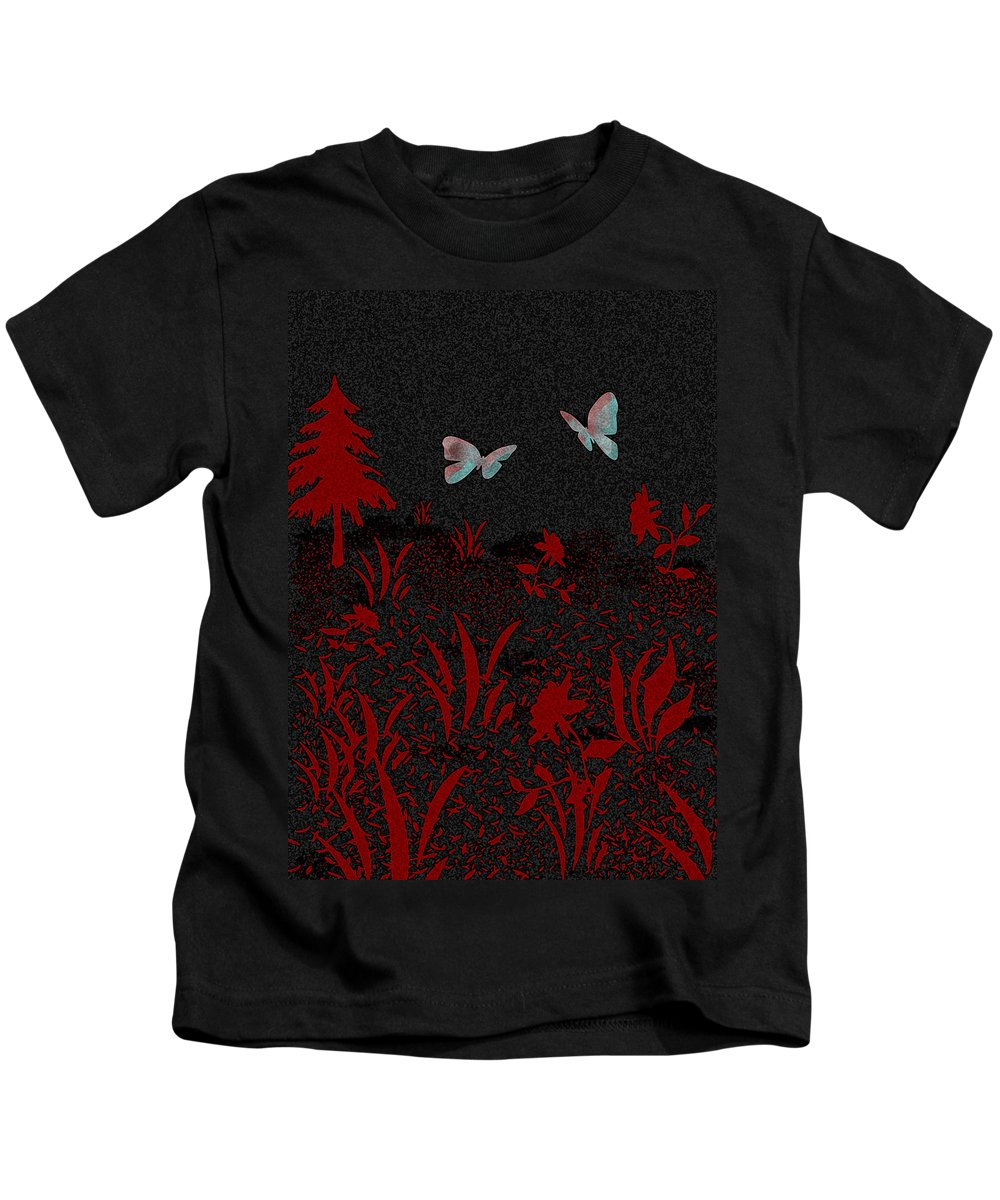 Flowers Kids T-Shirt featuring the painting My Favorite One... by Lisa Stanley