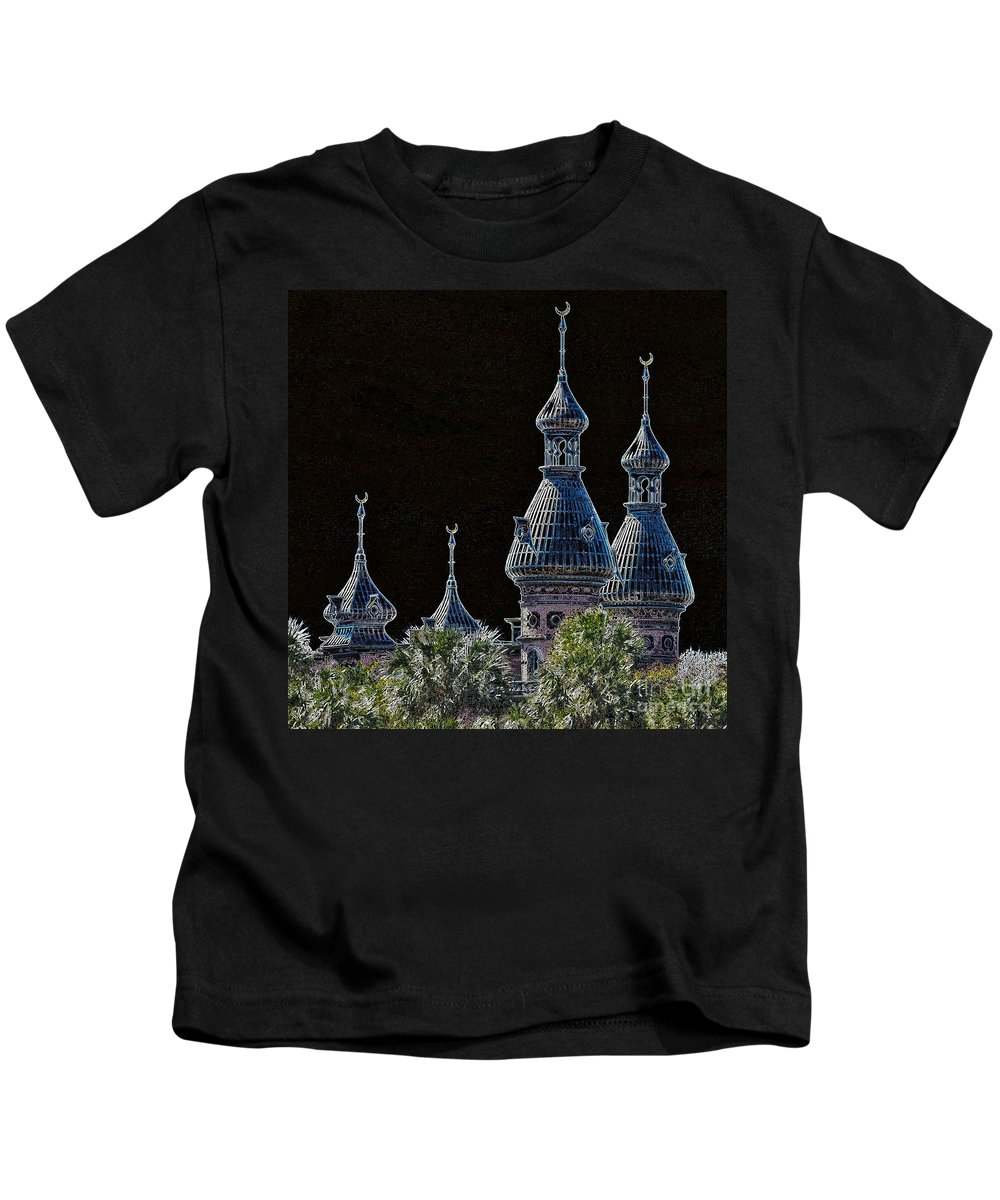 Tampa Kids T-Shirt featuring the photograph Mysterious Minarets by Carol Groenen