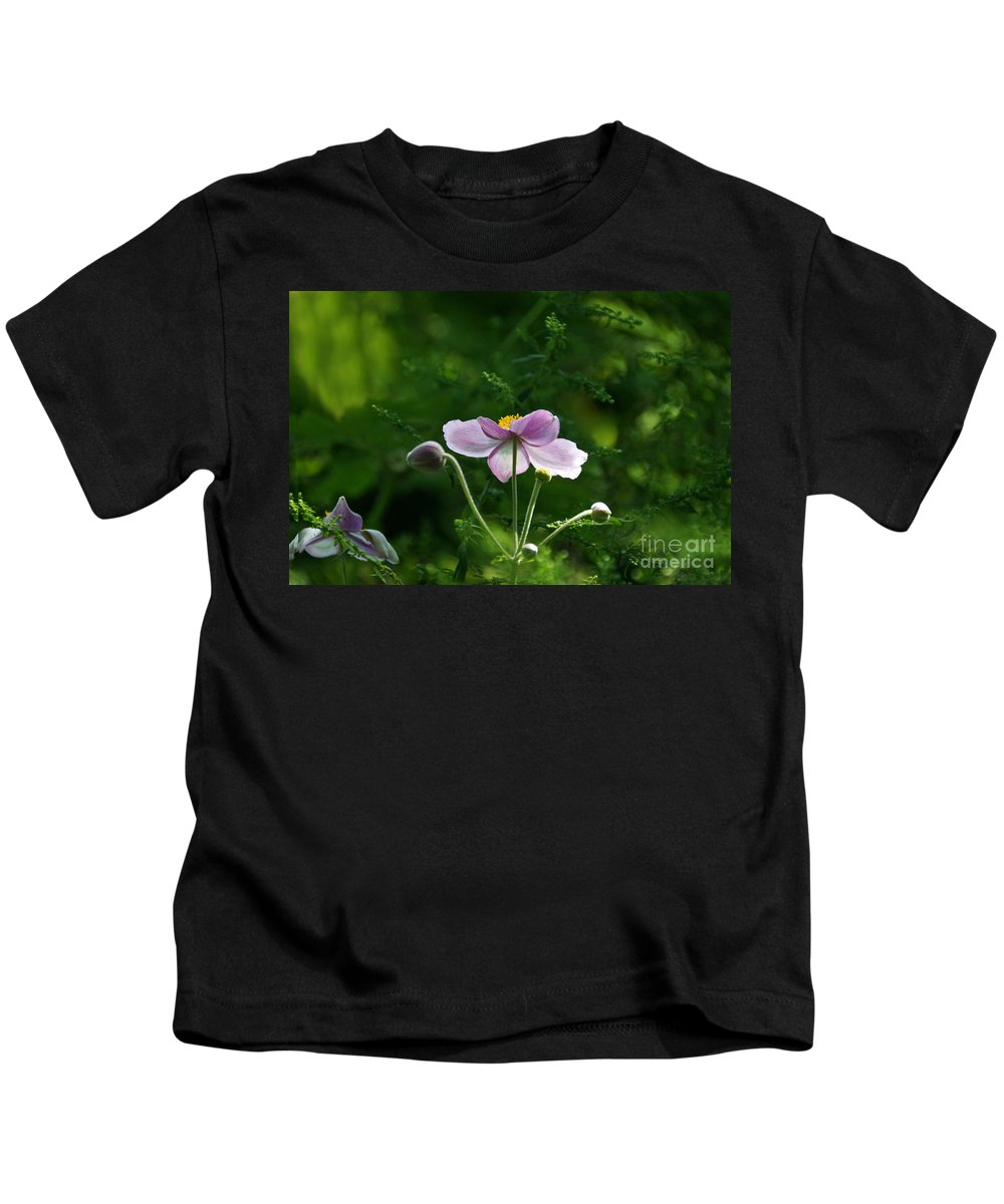 Japanese Flora Kids T-Shirt featuring the photograph Mystical Moment by Byron Varvarigos