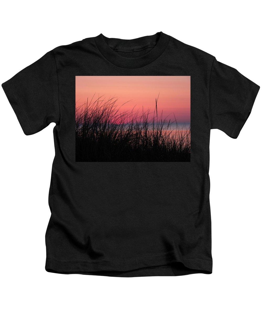 Lake Michigan Kids T-Shirt featuring the photograph New Dawn by John Wanserski