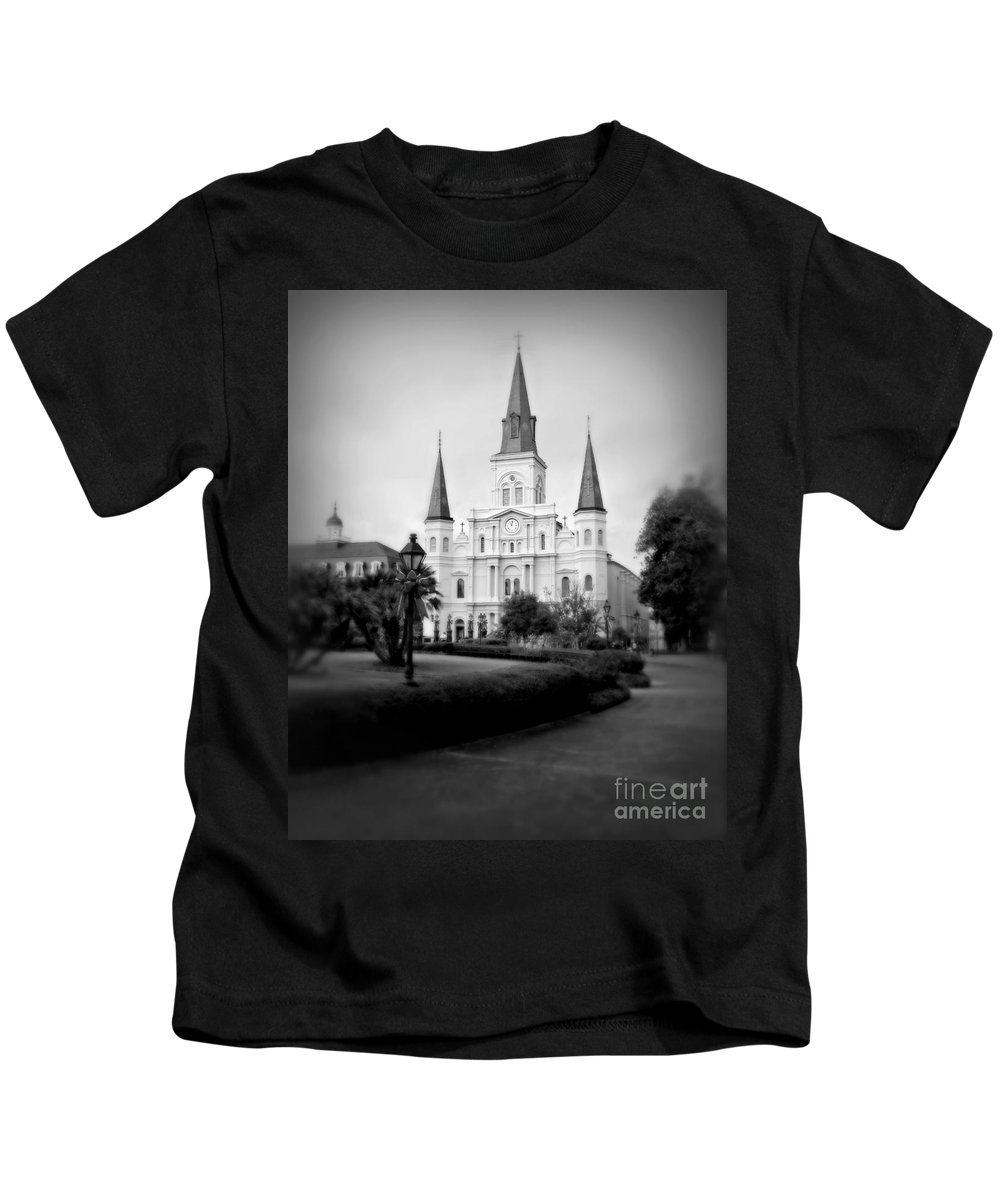 Jackson Square Kids T-Shirt featuring the photograph New Orleans Landmark by Perry Webster
