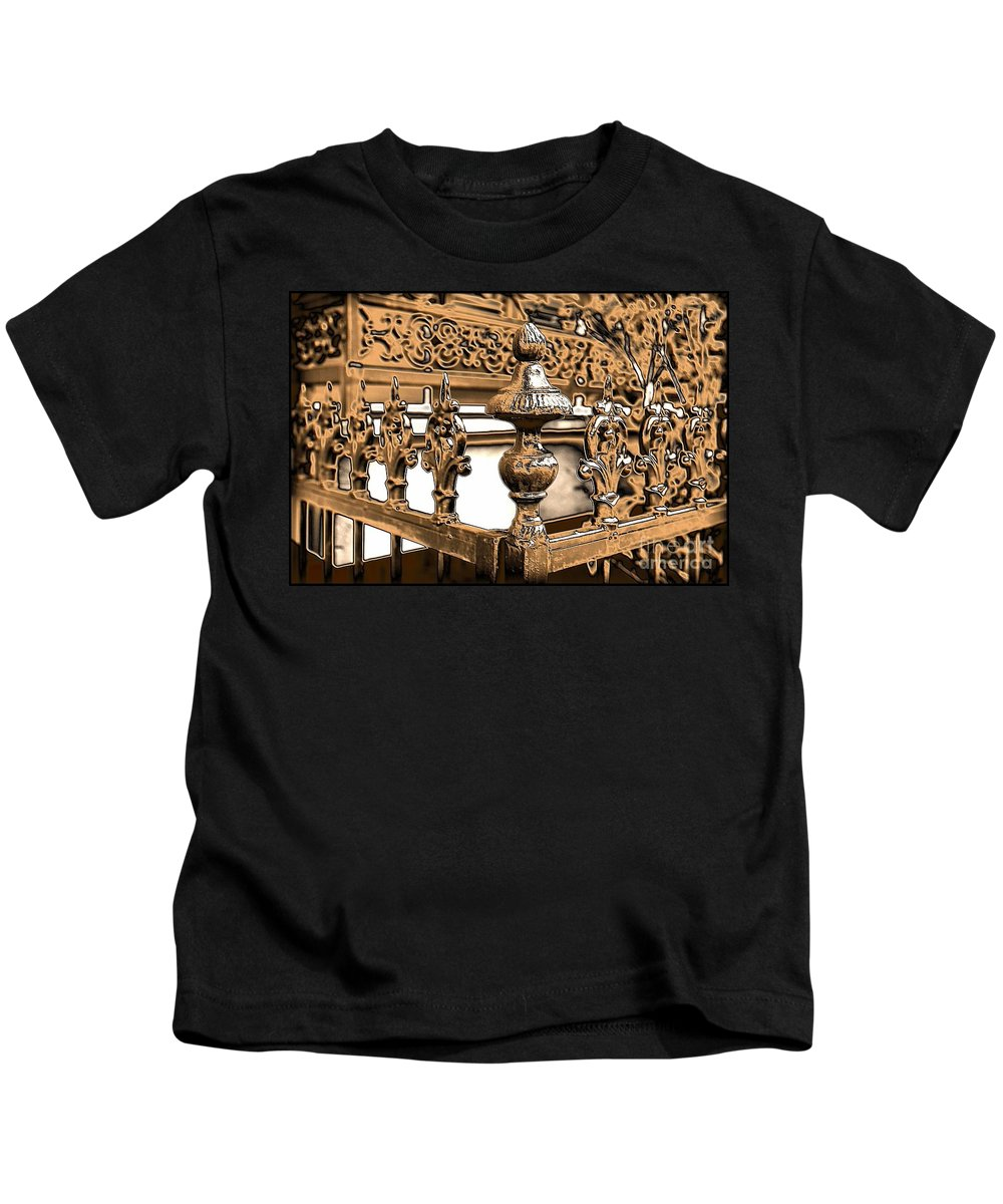 New Orleans Kids T-Shirt featuring the photograph New Orleans Story by Carol Groenen