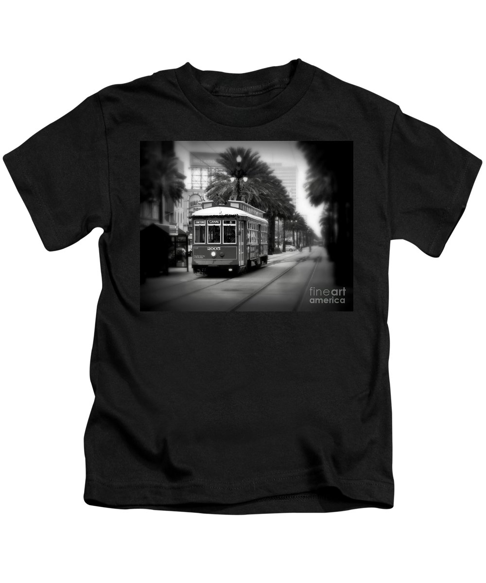 New Orleans Kids T-Shirt featuring the photograph New Orleans Streetcar 2 by Perry Webster