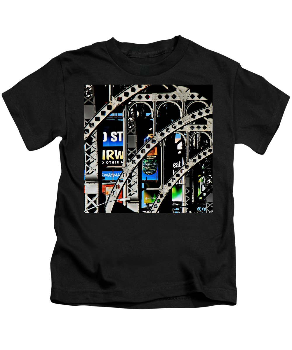 New York Kids T-Shirt featuring the photograph New York Abstract 1 by Andrew Fare