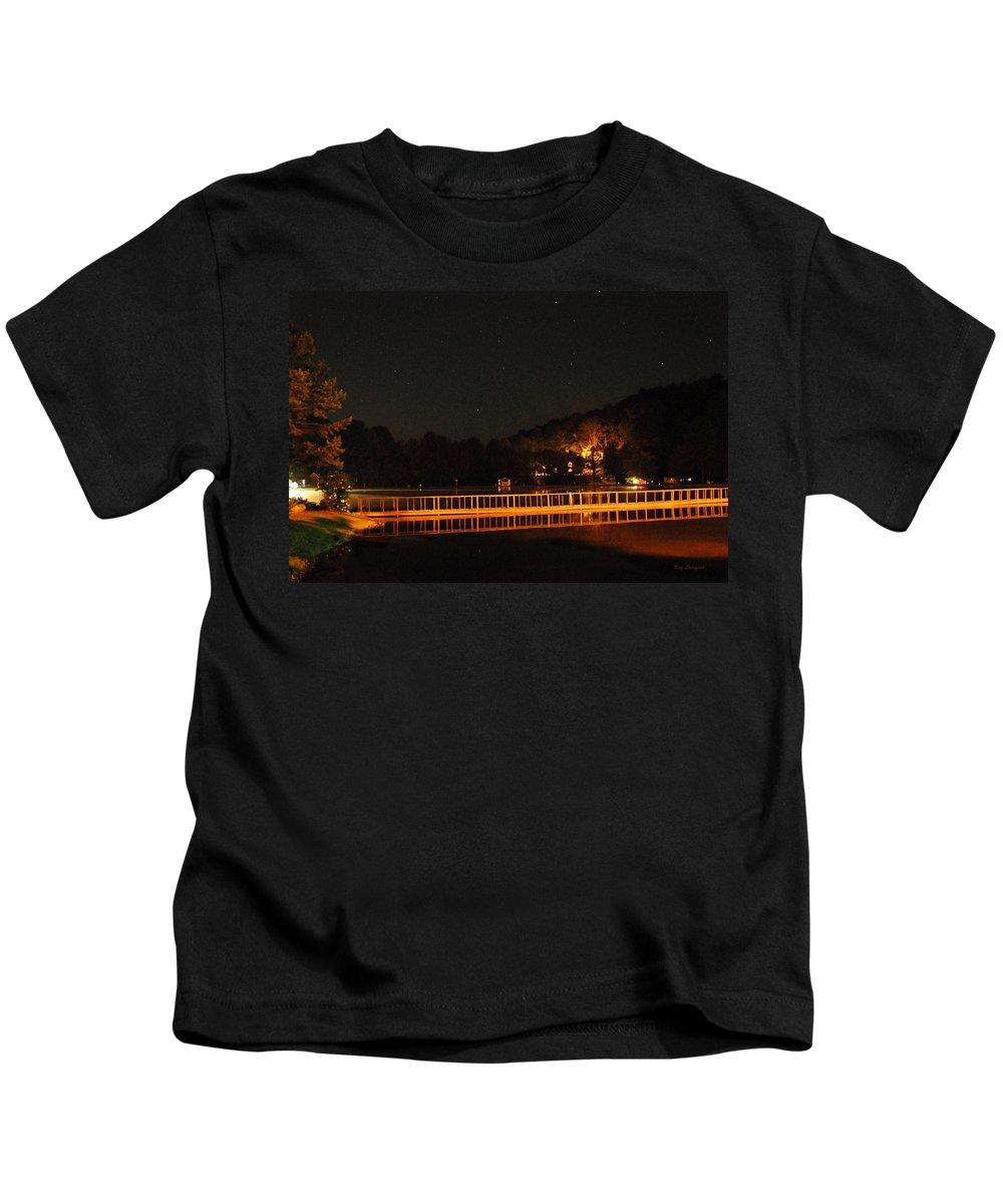 Bridge Kids T-Shirt featuring the photograph Night Bridge by Kay Lovingood