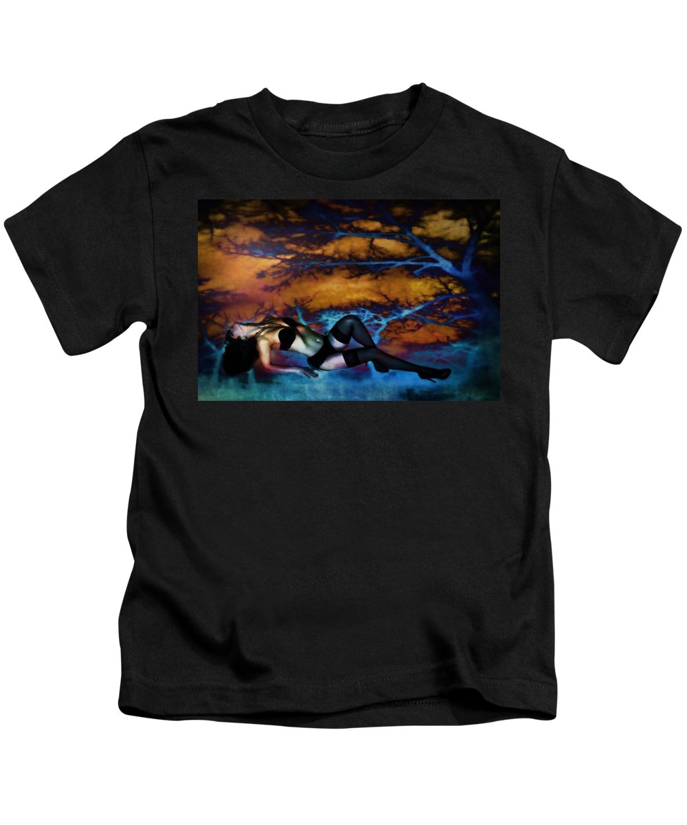 Glamor Kids T-Shirt featuring the digital art Night by Diane Dugas
