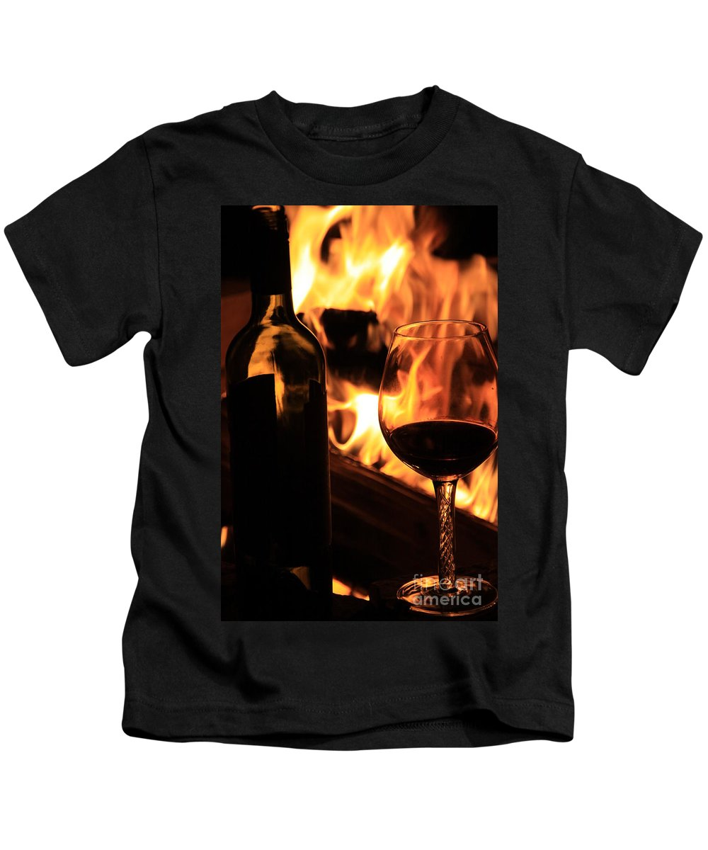 Fire Kids T-Shirt featuring the photograph Night Out by Dana Kern