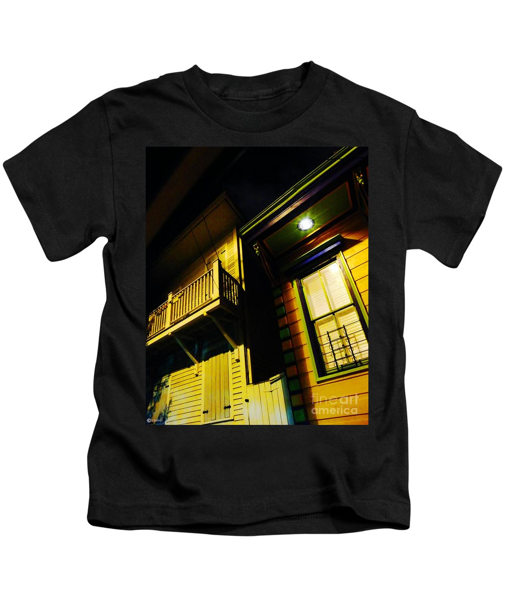 New Orleans Kids T-Shirt featuring the photograph Nocturnal Nola by Lizi Beard-Ward
