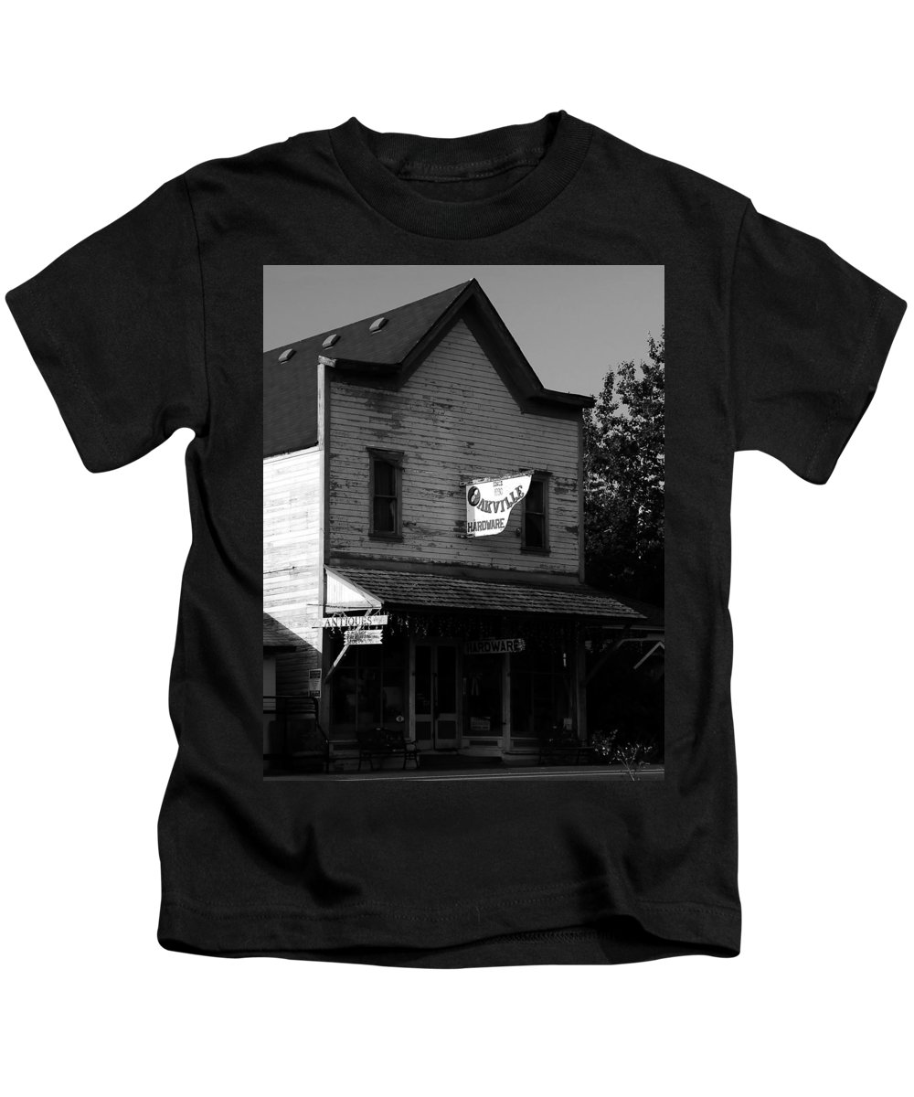 Fine Art Photography Kids T-Shirt featuring the photograph Oakville Hardware 1890 by David Lee Thompson
