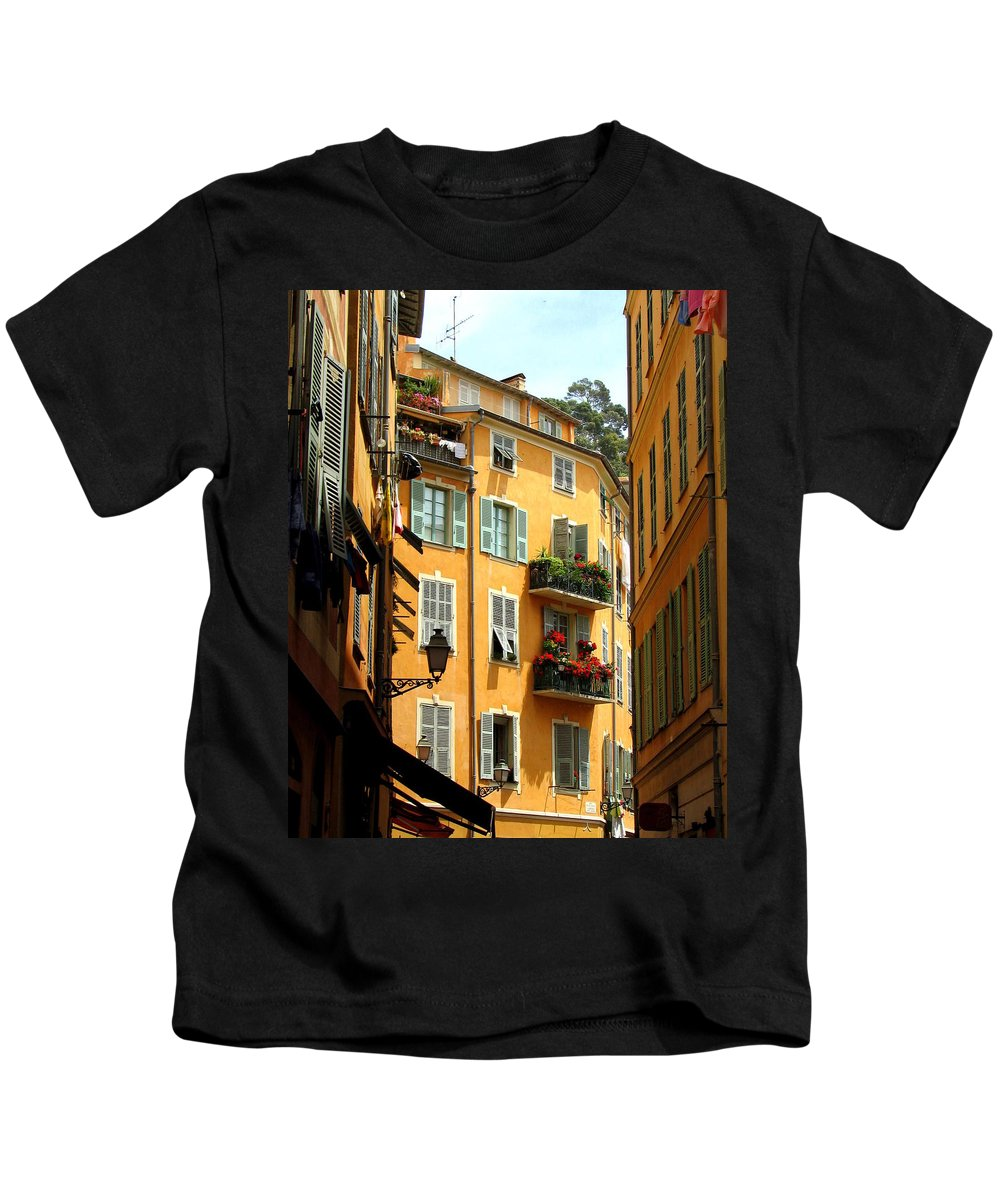 Nice Kids T-Shirt featuring the photograph Old Nice by Carla Parris