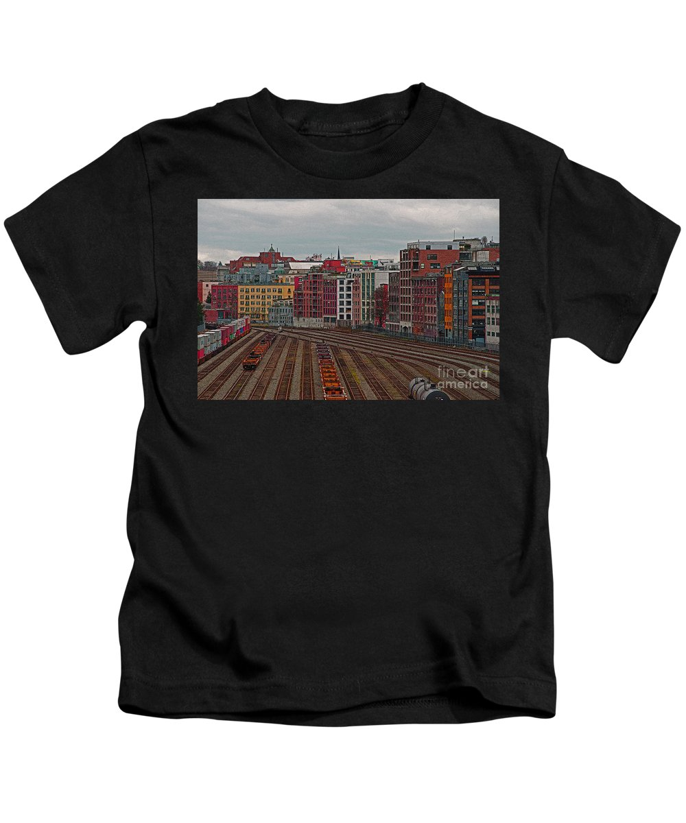 Vancouver Kids T-Shirt featuring the photograph Old Town Vancouver by Randy Harris