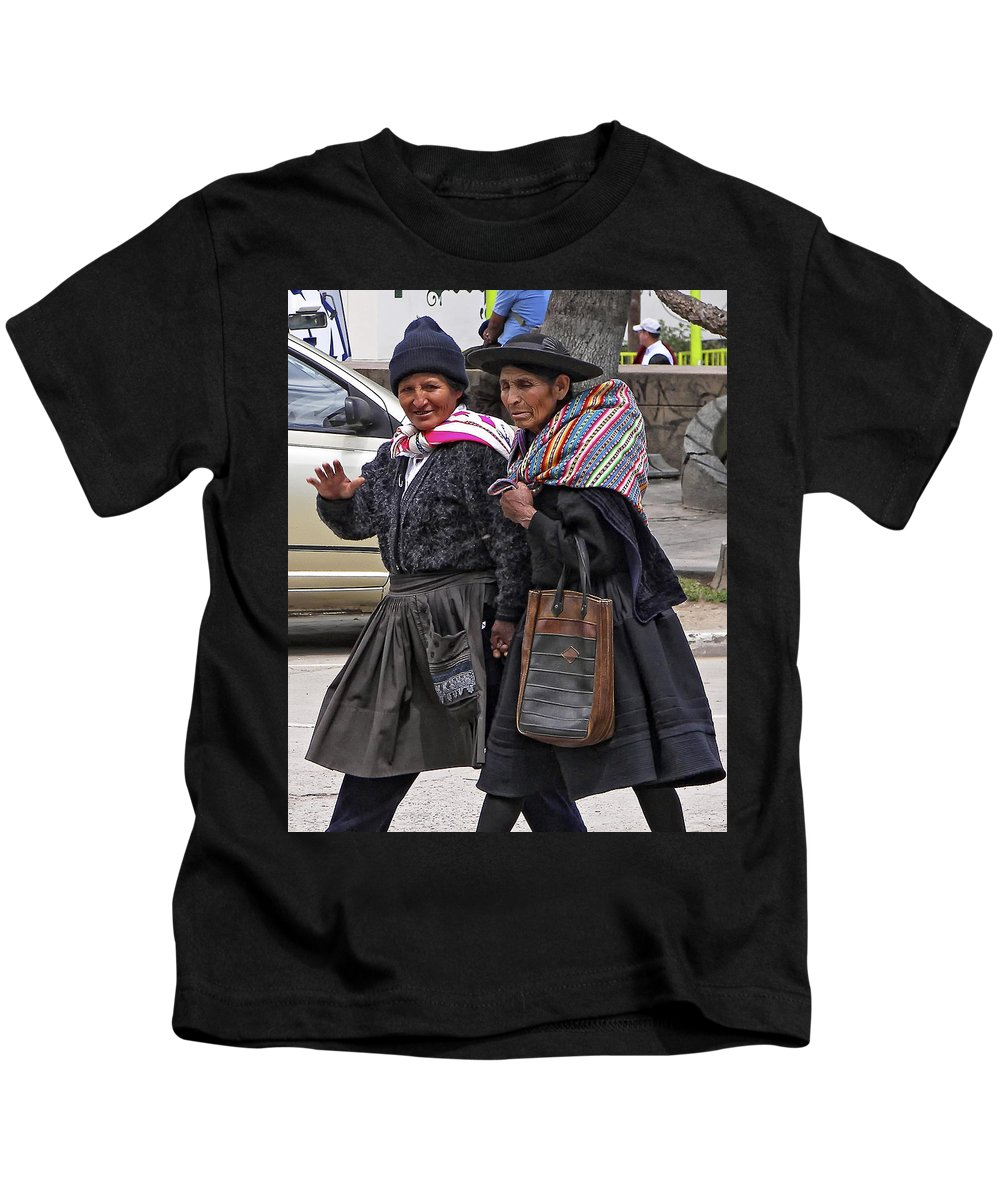 Peru Kids T-Shirt featuring the photograph On A Mission by Steve Harrington