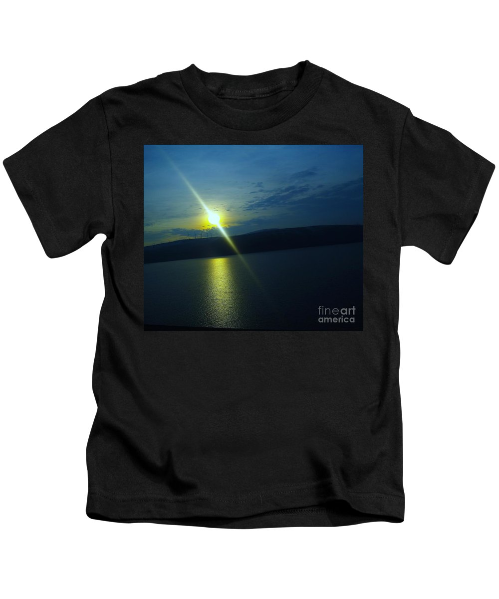 Sun Kids T-Shirt featuring the photograph On The River Of Dreams by Jeff Swan