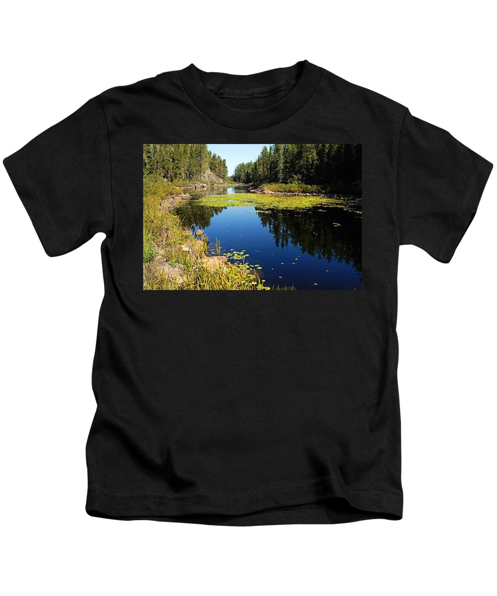 East Lunch Lake Kids T-Shirt featuring the photograph On The Way To East Lunch Lake by Larry Ricker