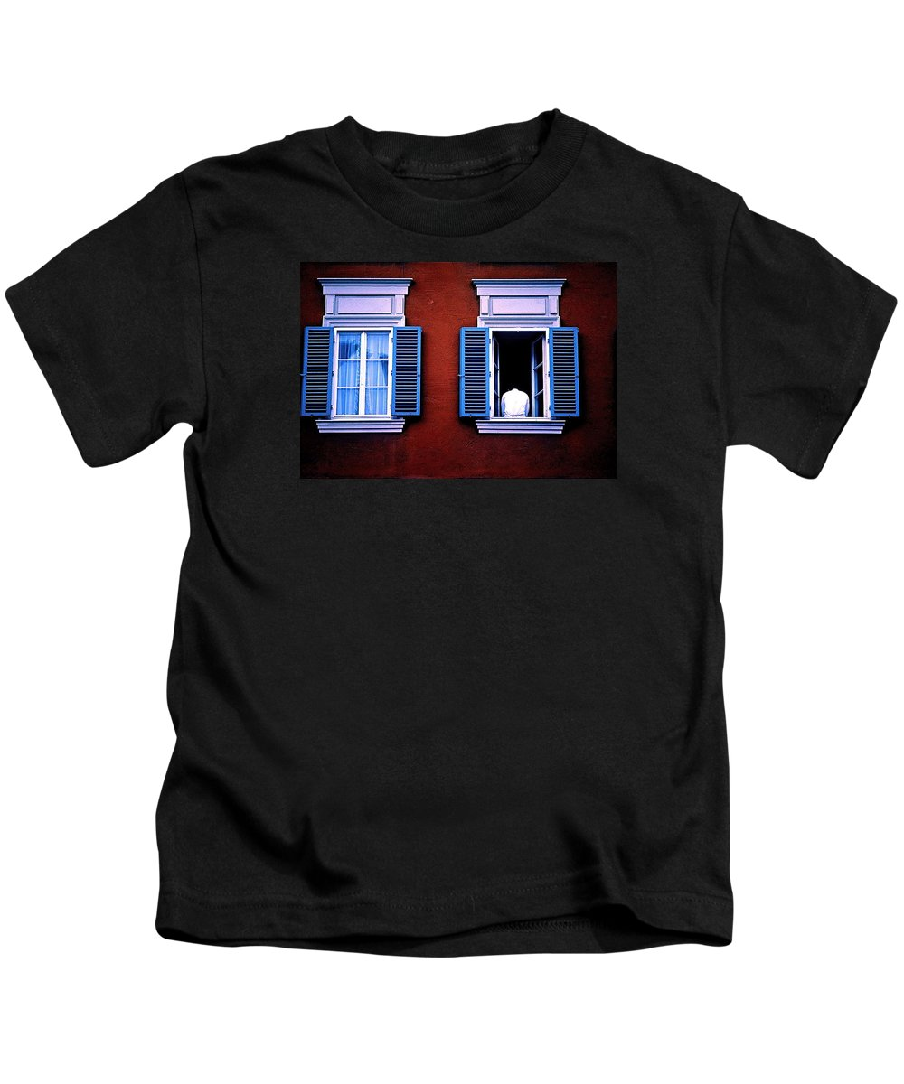 Window Kids T-Shirt featuring the photograph Open Window by Gregory Merlin Brown