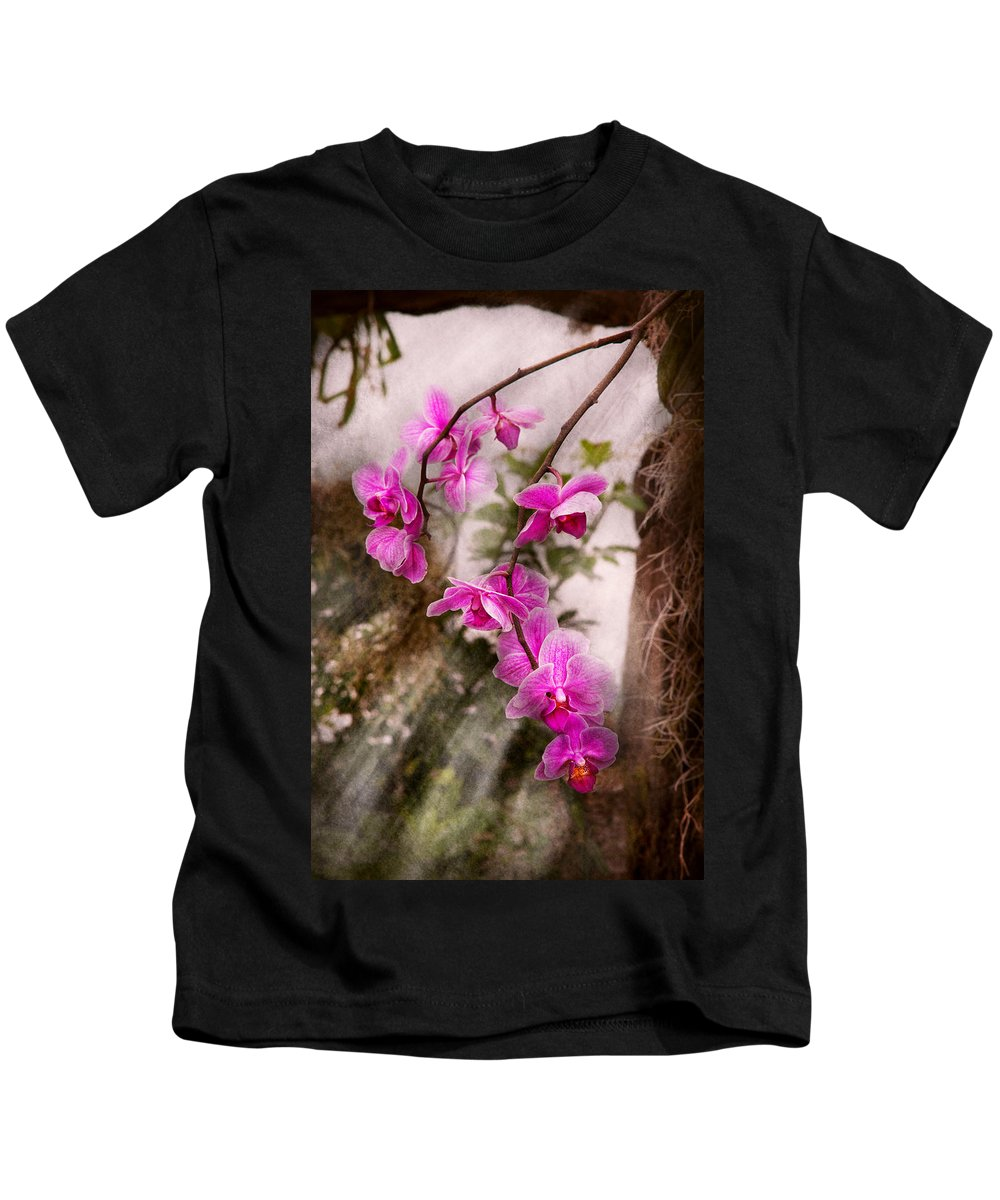Orchid Kids T-Shirt featuring the photograph Orchid - Tropical Passion by Mike Savad