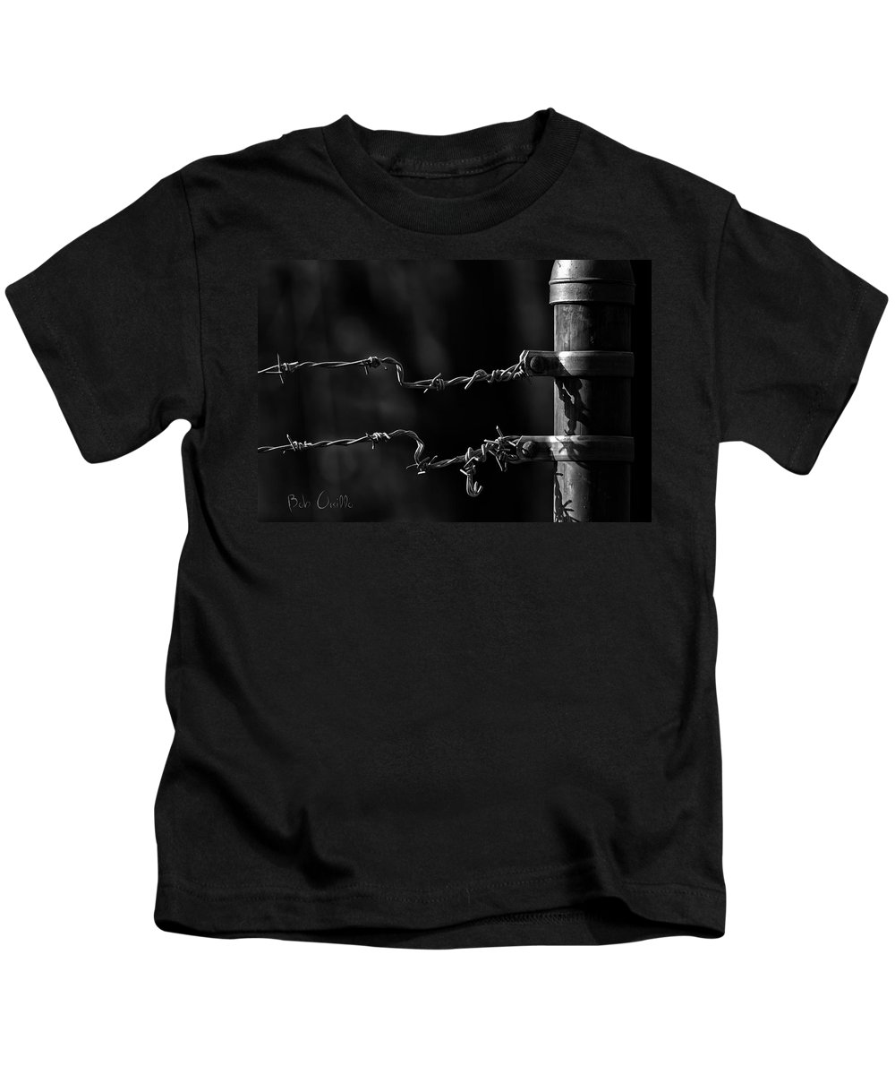 Fence Kids T-Shirt featuring the photograph Other Side Of The Fence by Bob Orsillo