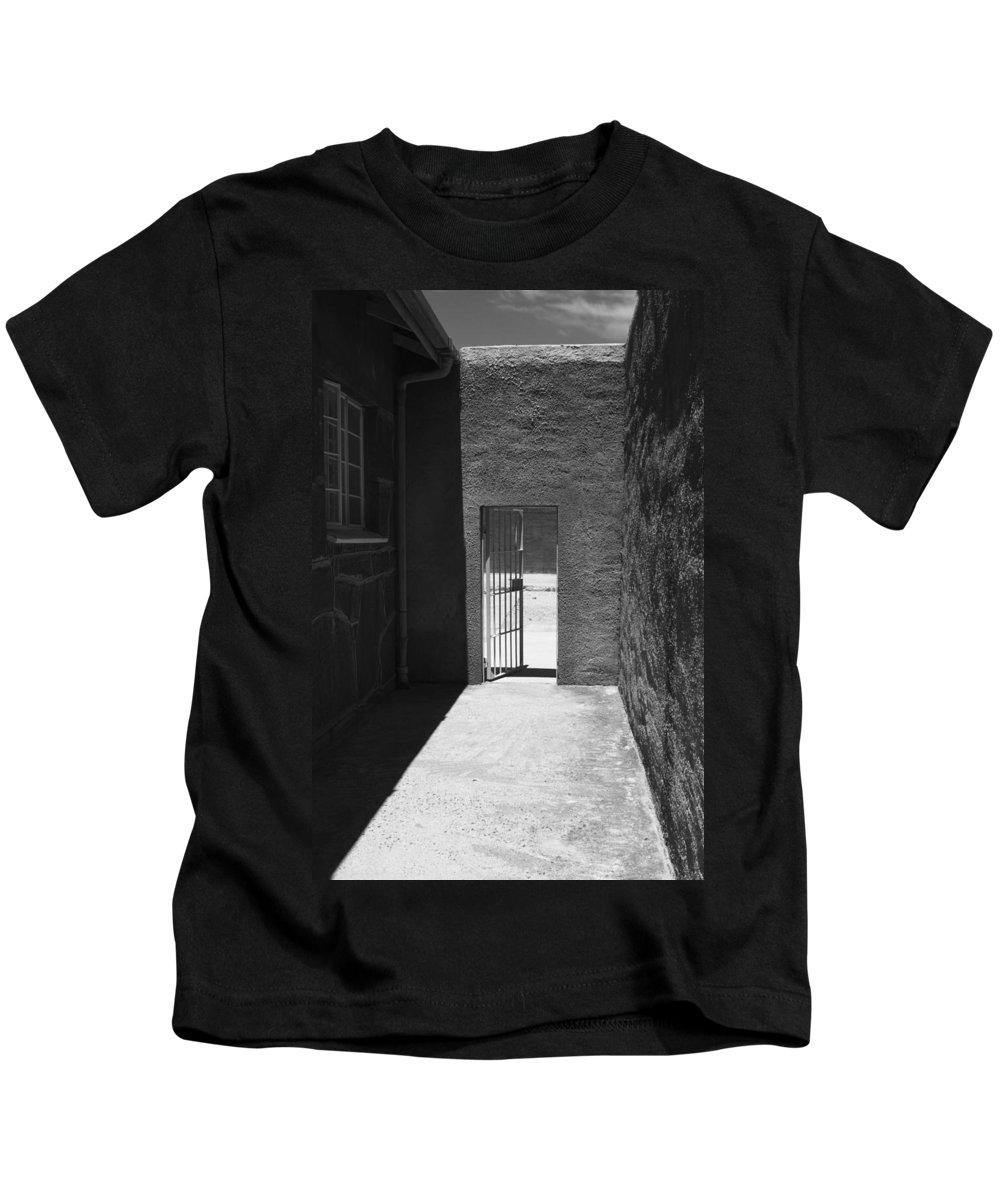 Robben Island Kids T-Shirt featuring the photograph Outdoor Walkway by Aidan Moran