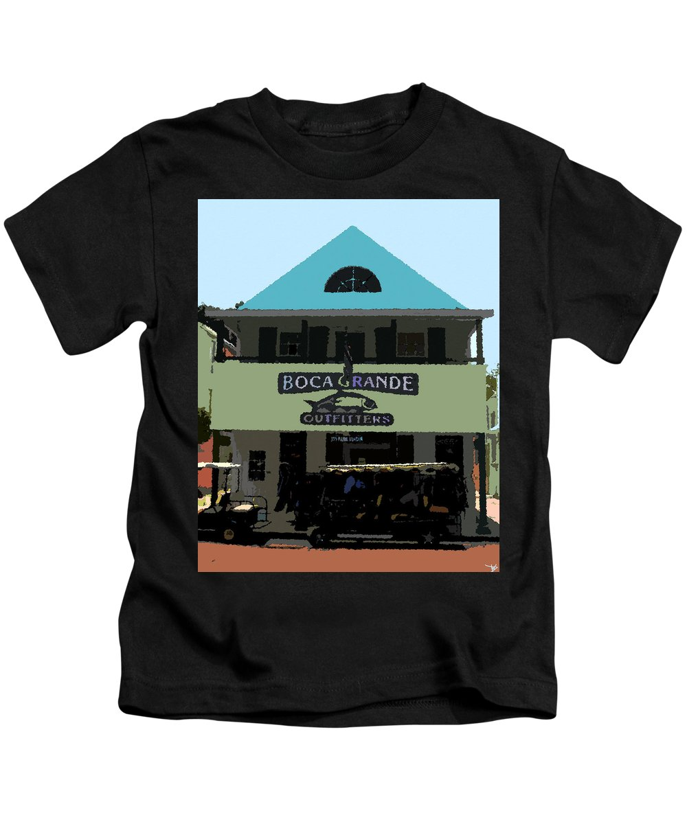 Art Kids T-Shirt featuring the painting Outfitters Boca Grande Style by David Lee Thompson