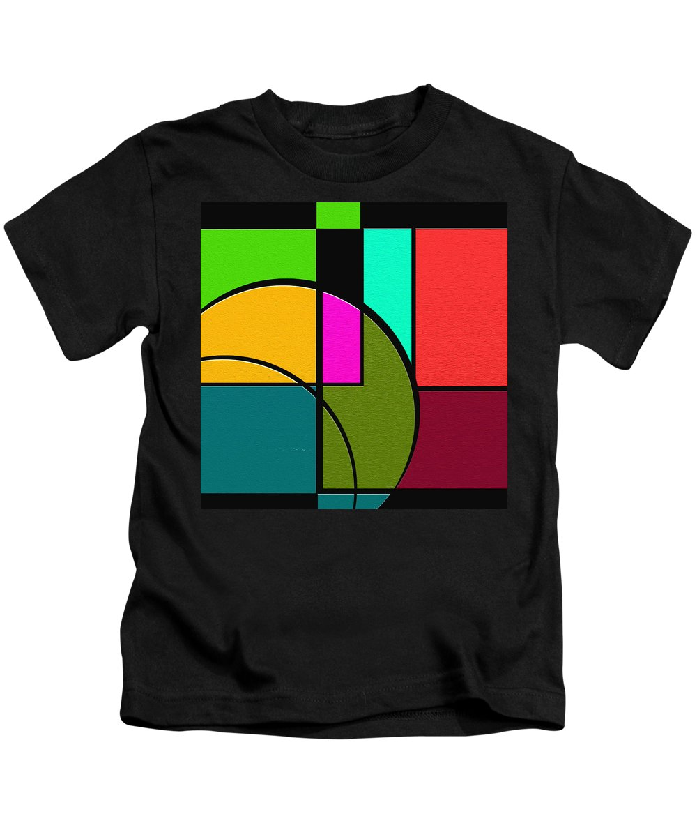 Abstract Art Kids T-Shirt featuring the painting Outs by Ely Arsha