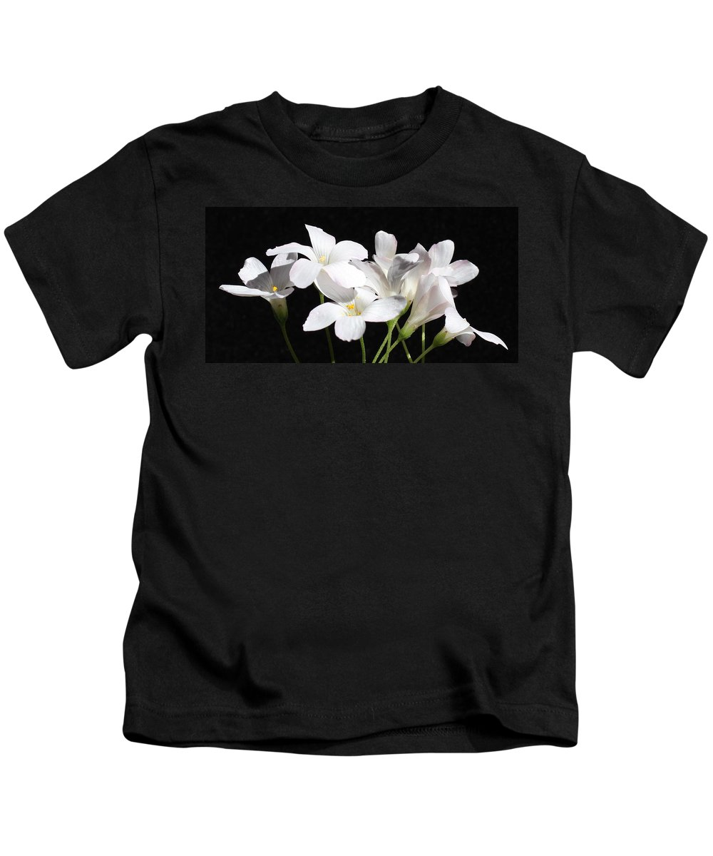 Floral Kids T-Shirt featuring the photograph Oxalis Flowers 2 by Kume Bryant